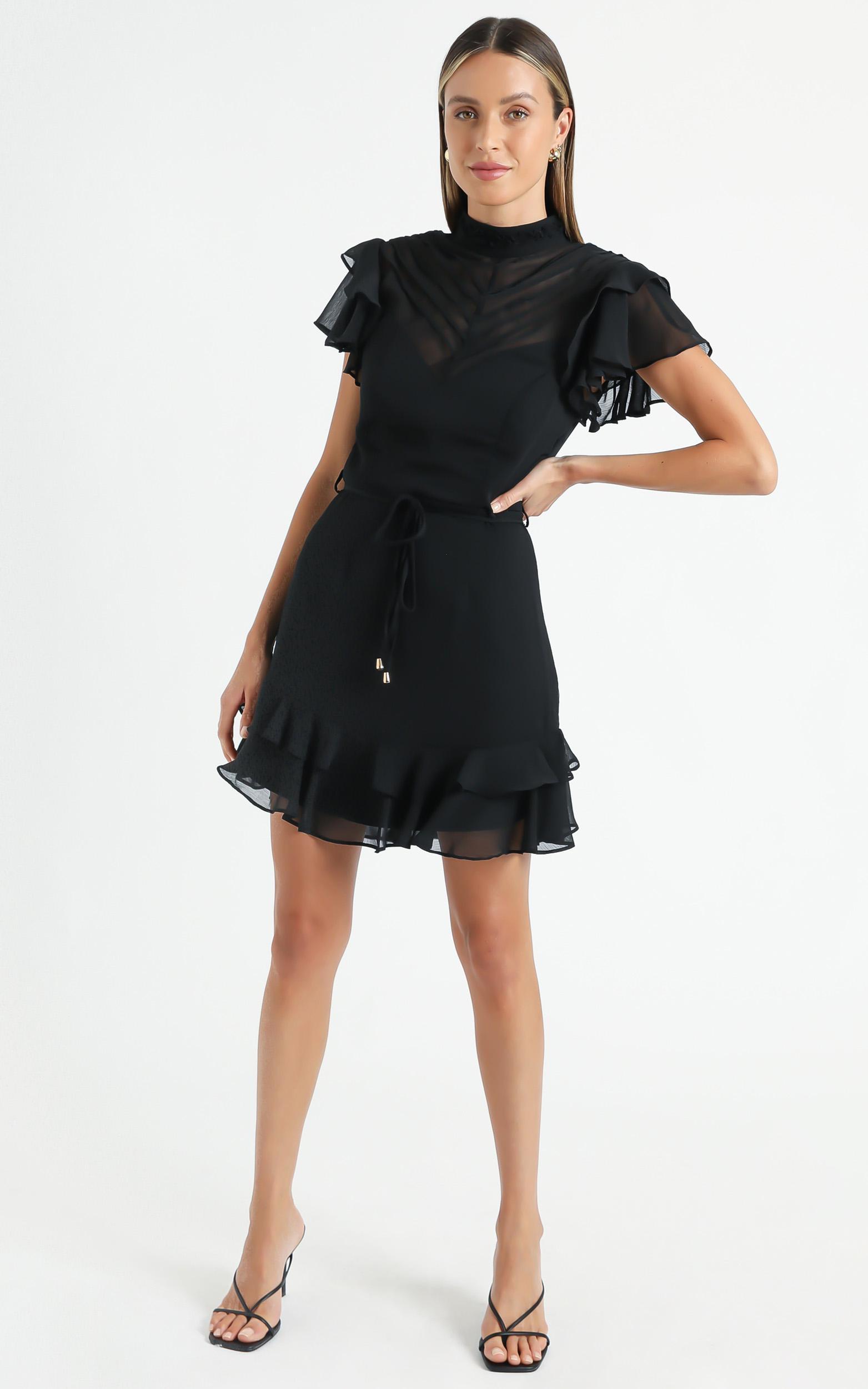 Livvy Dress in Black - 6 (XS), Black, hi-res image number null
