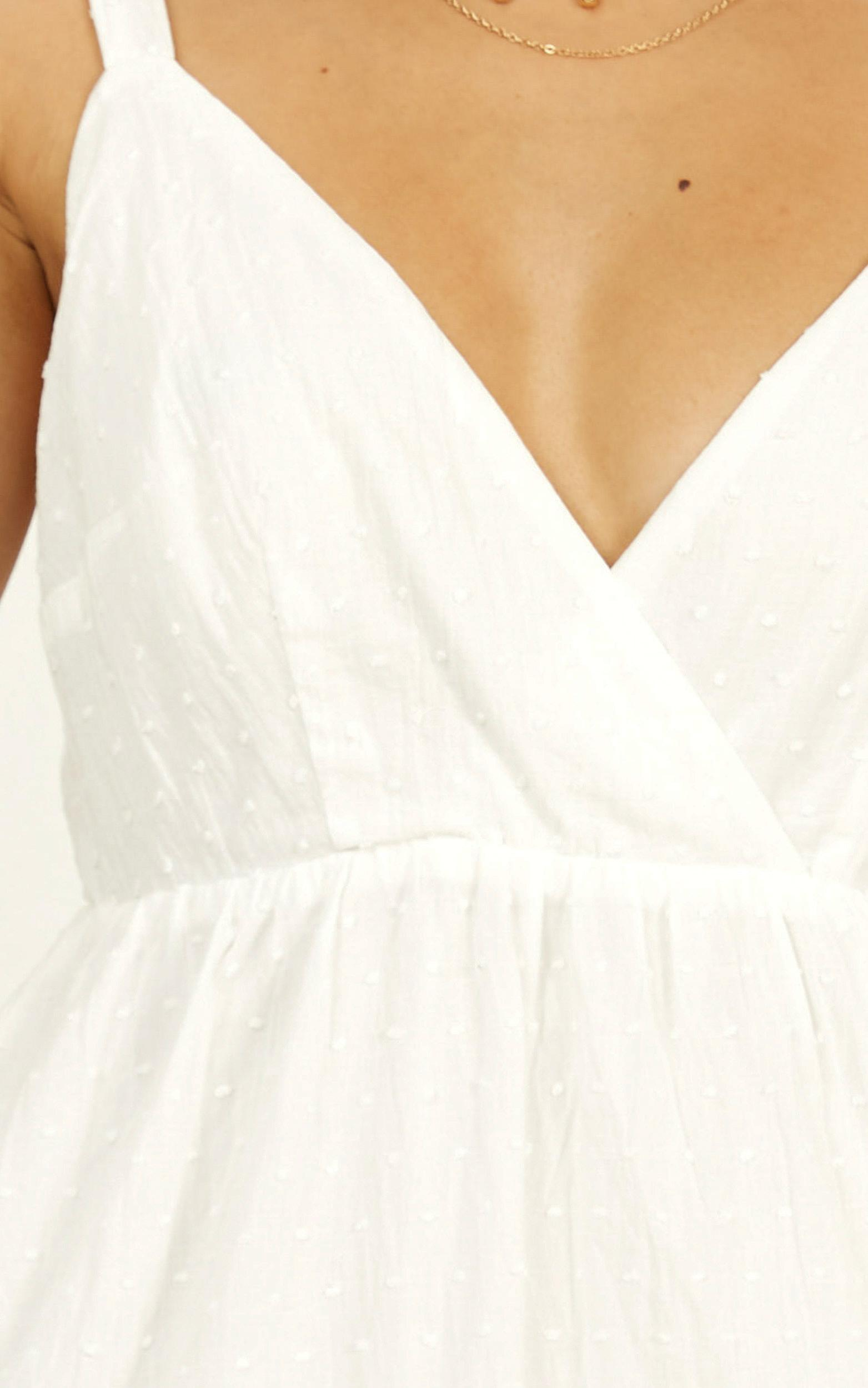 Rich Visions Dress in textured white spot - 20 (XXXXL), White, hi-res image number null