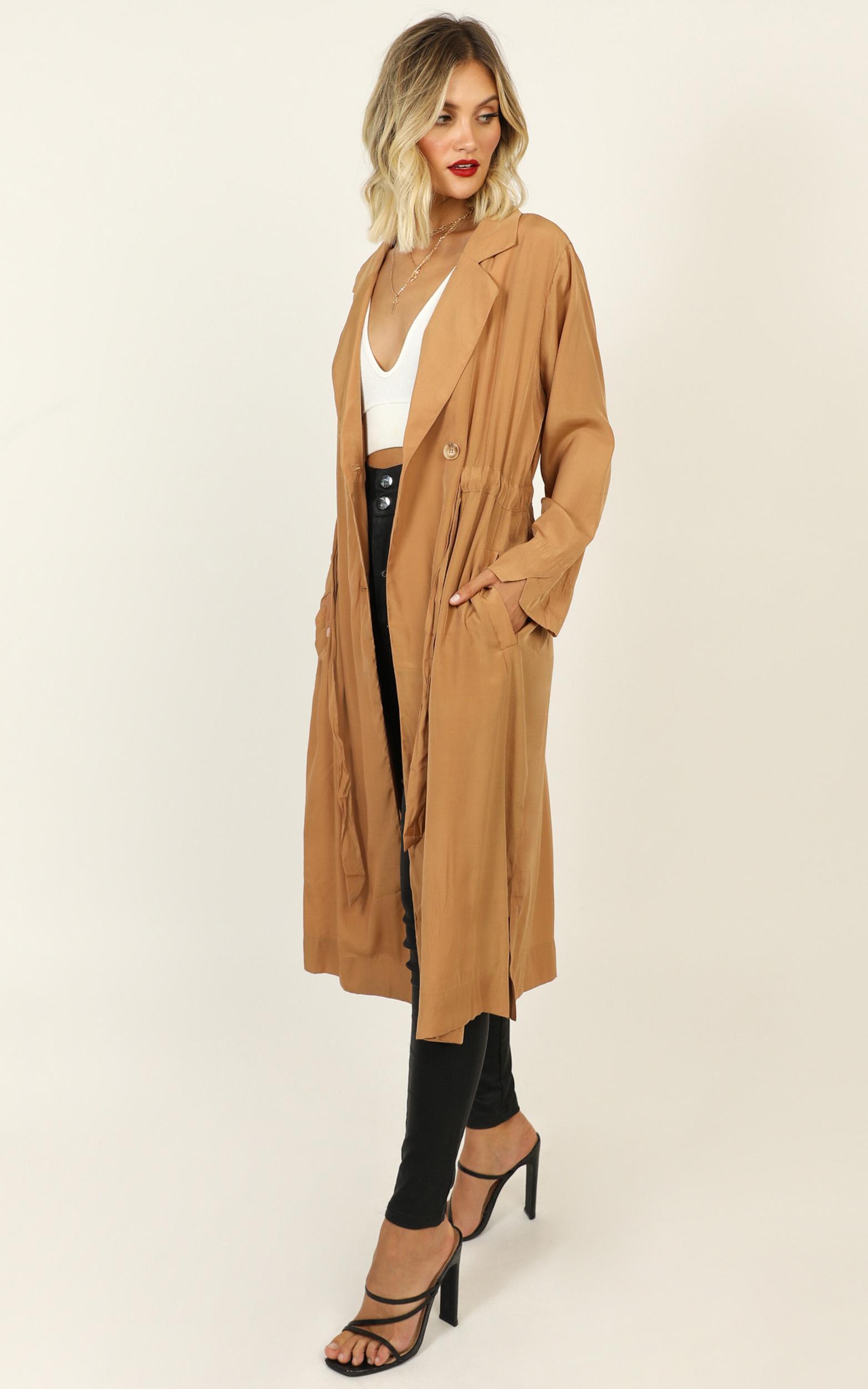 Storybook Lovers coat in tan - 12 (L), Tan, hi-res image number null