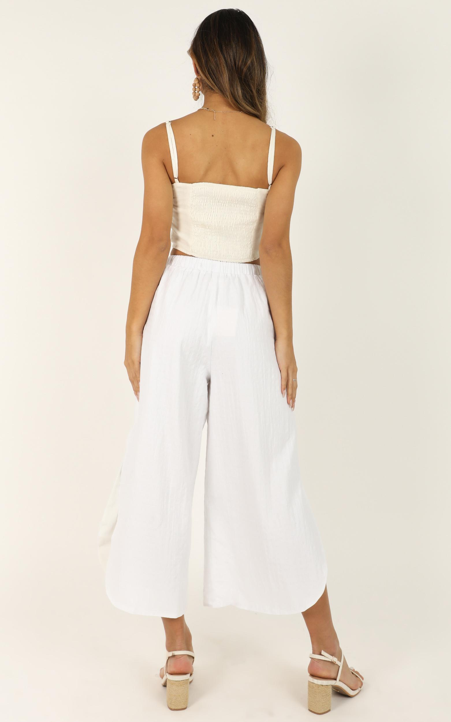 I Am Still Here Pants in white linen look - 12 (L), White, hi-res image number null