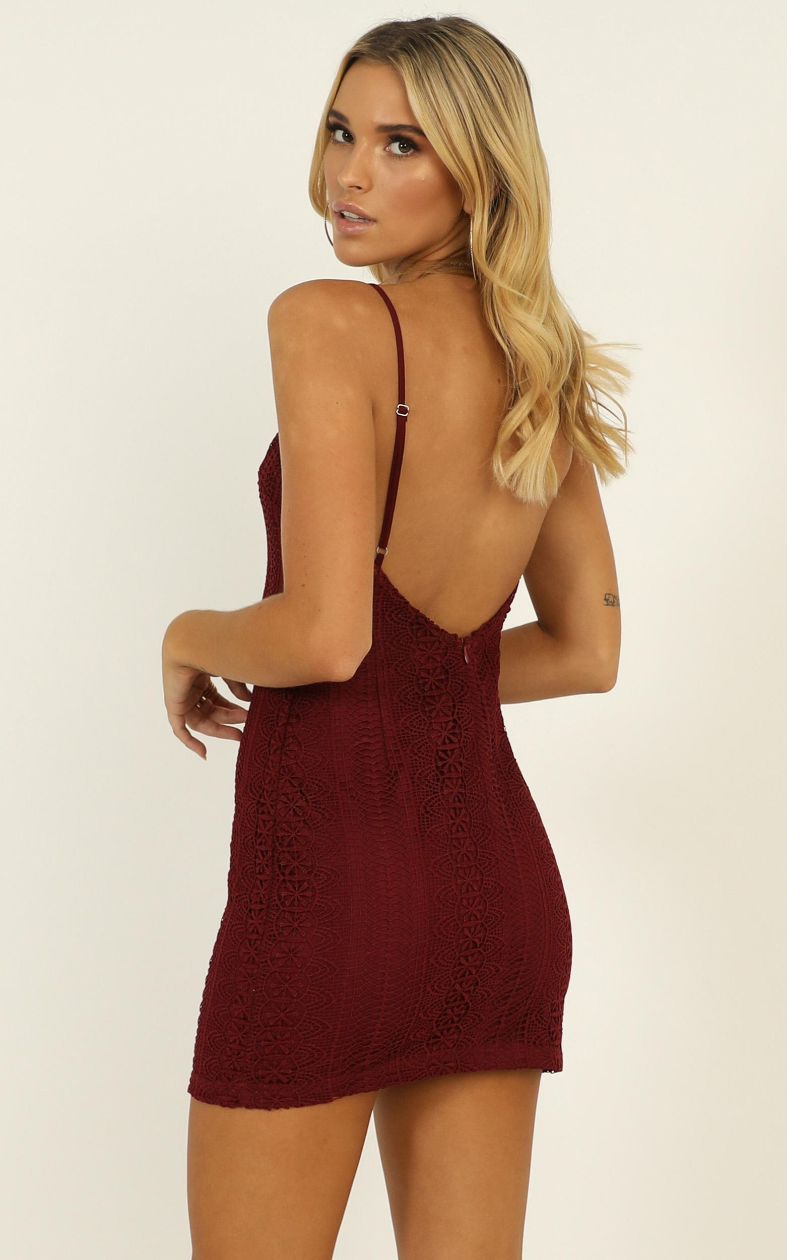 The Day I Fell In Love Dress in wine lace - 20 (XXXXL), Wine, hi-res image number null