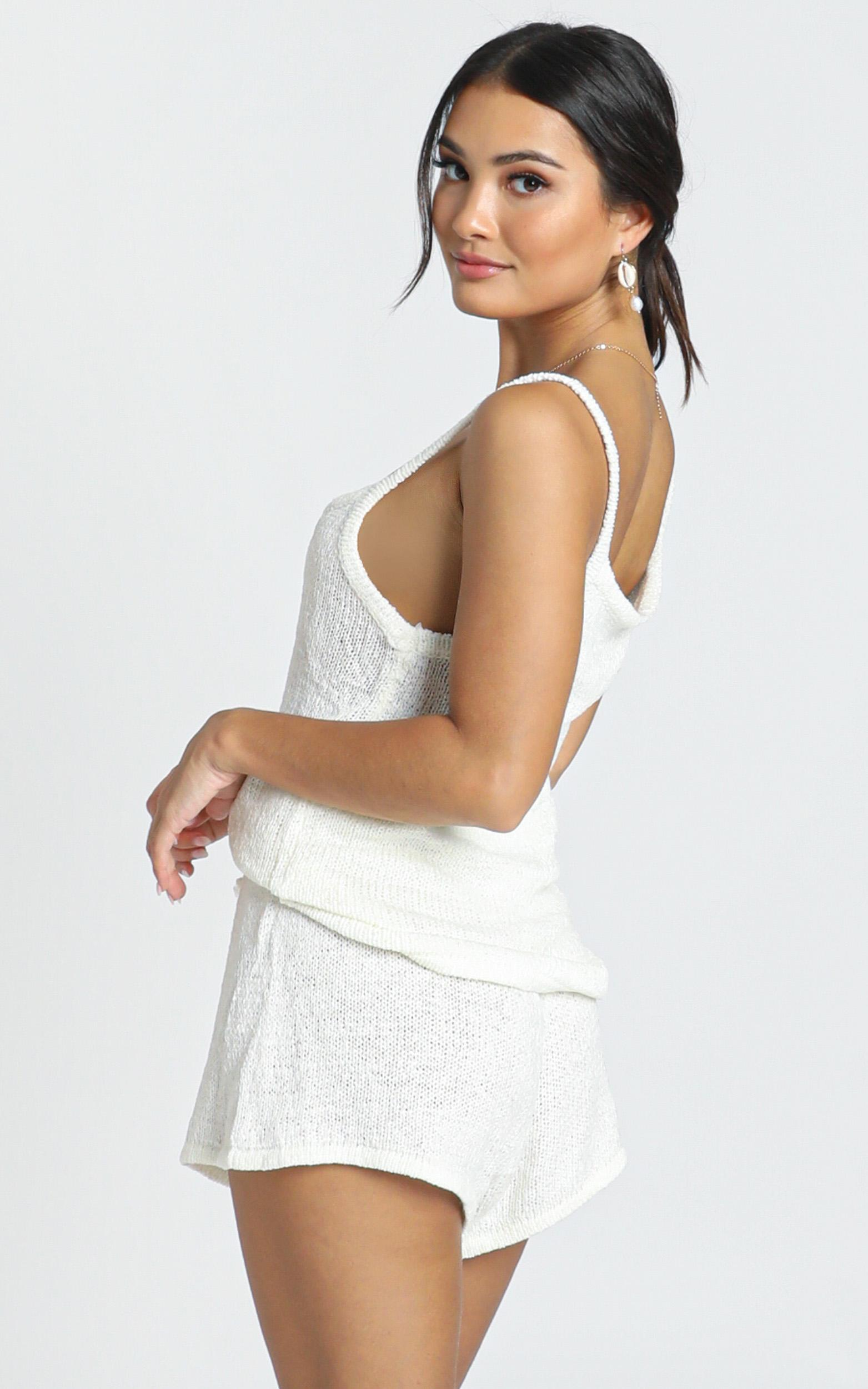 Tell A Lie Two Piece Set in white - M/L, White, hi-res image number null