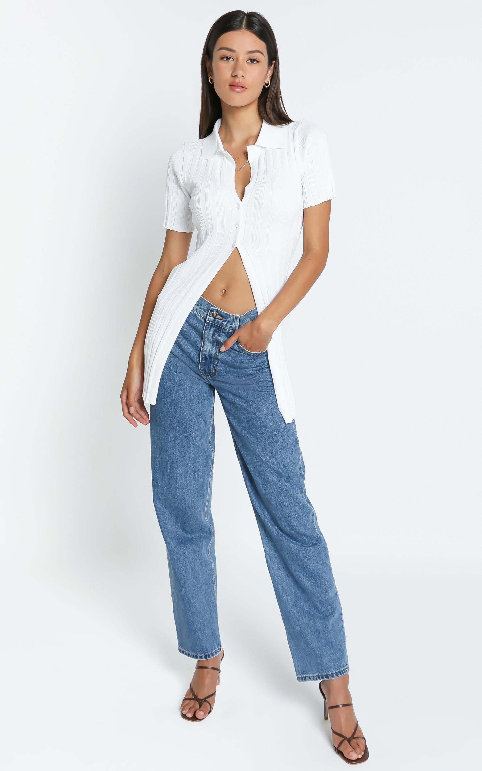 Lioness - Silverlake Cardi Top in White - 4 (XXS), WHT1, hi-res image number null