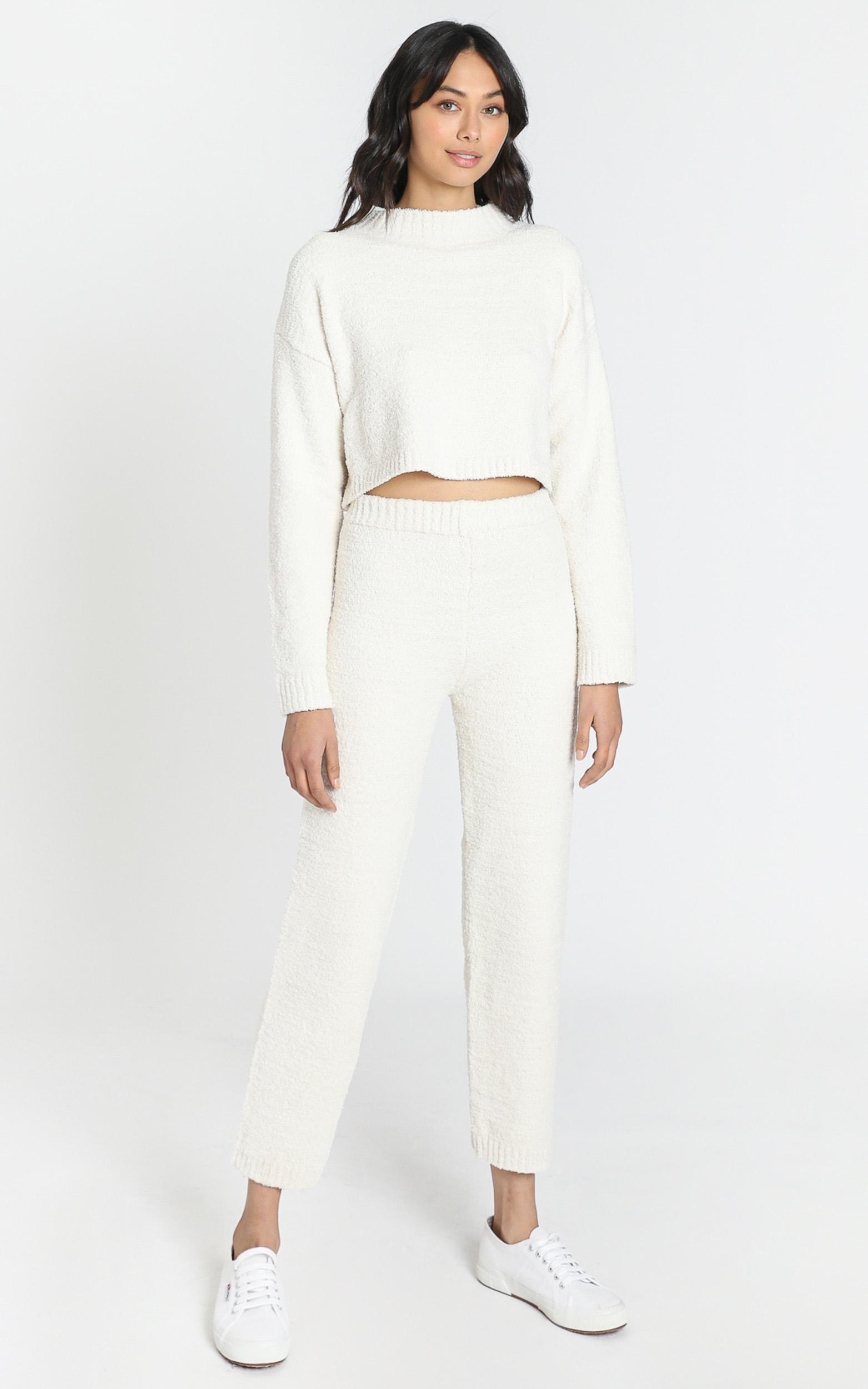 Get Comfy Two Piece Set in ivory - 8 (S), Cream, hi-res image number null