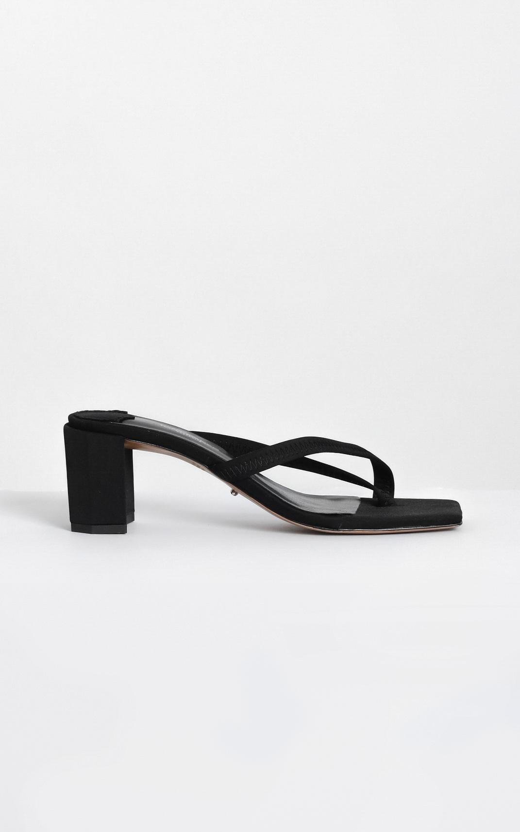 Tony Bianco - Serrah Heels in black lycra - 10, Black, hi-res image number null