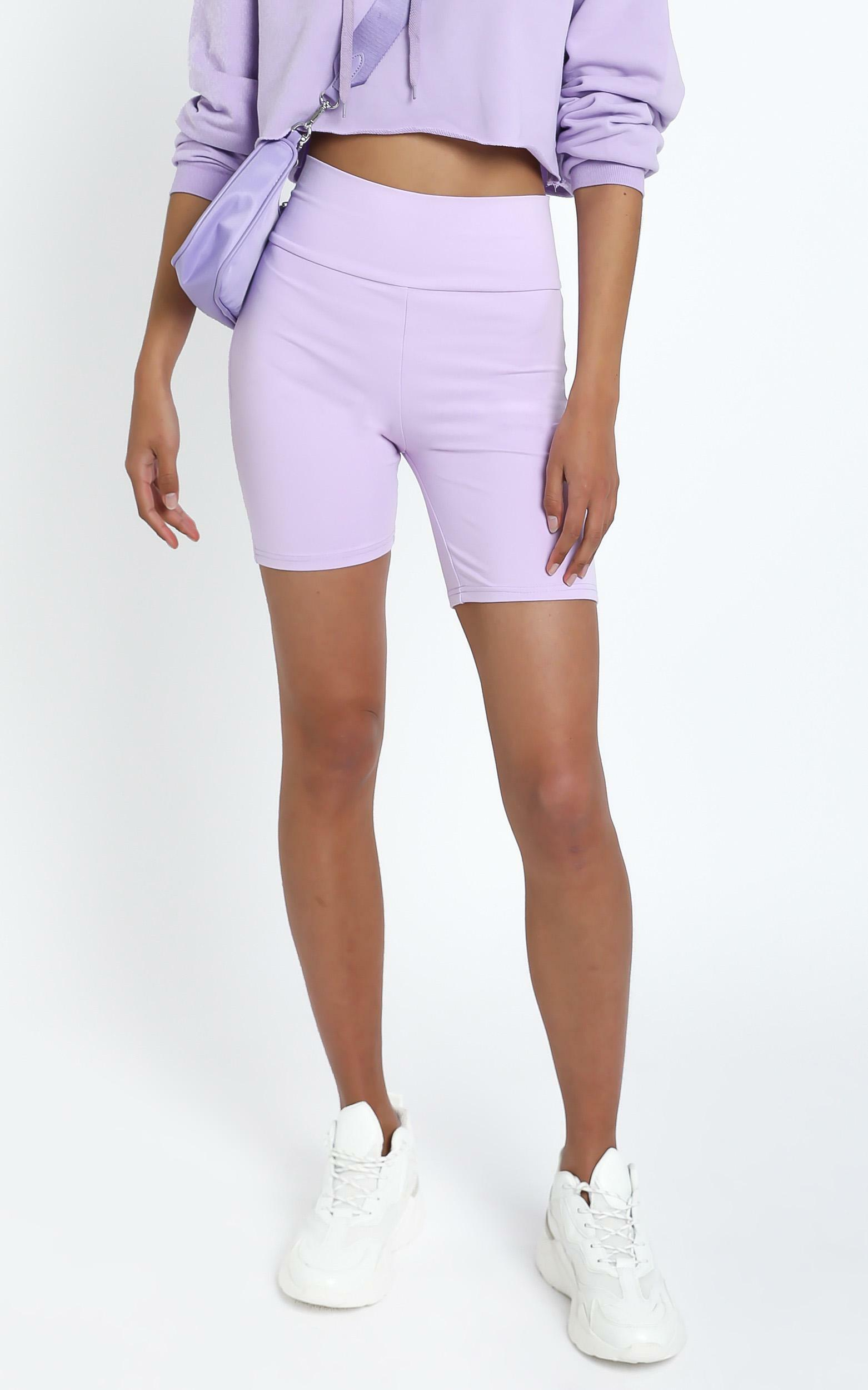 Nerida Bike Shorts in Lilac - 14 (XL), Purple, hi-res image number null