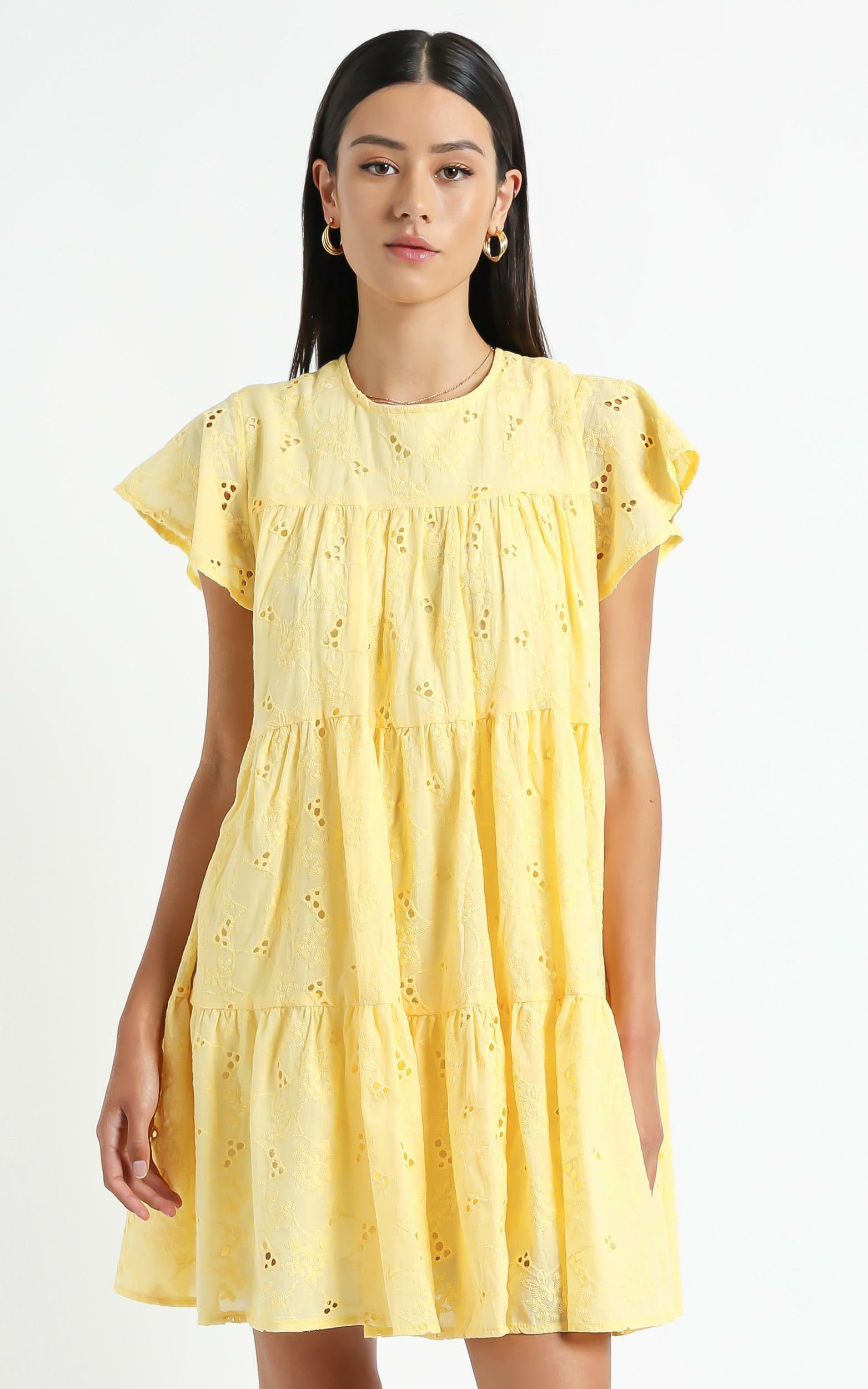 Isla Dress in Yellow - 6 (XS), Yellow, hi-res image number null