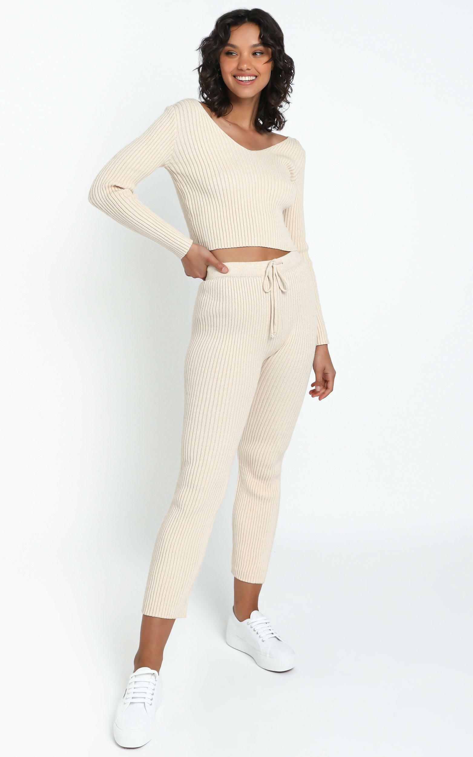 Gweneth Knit Pants in Beige - 12 (L), Cream, hi-res image number null