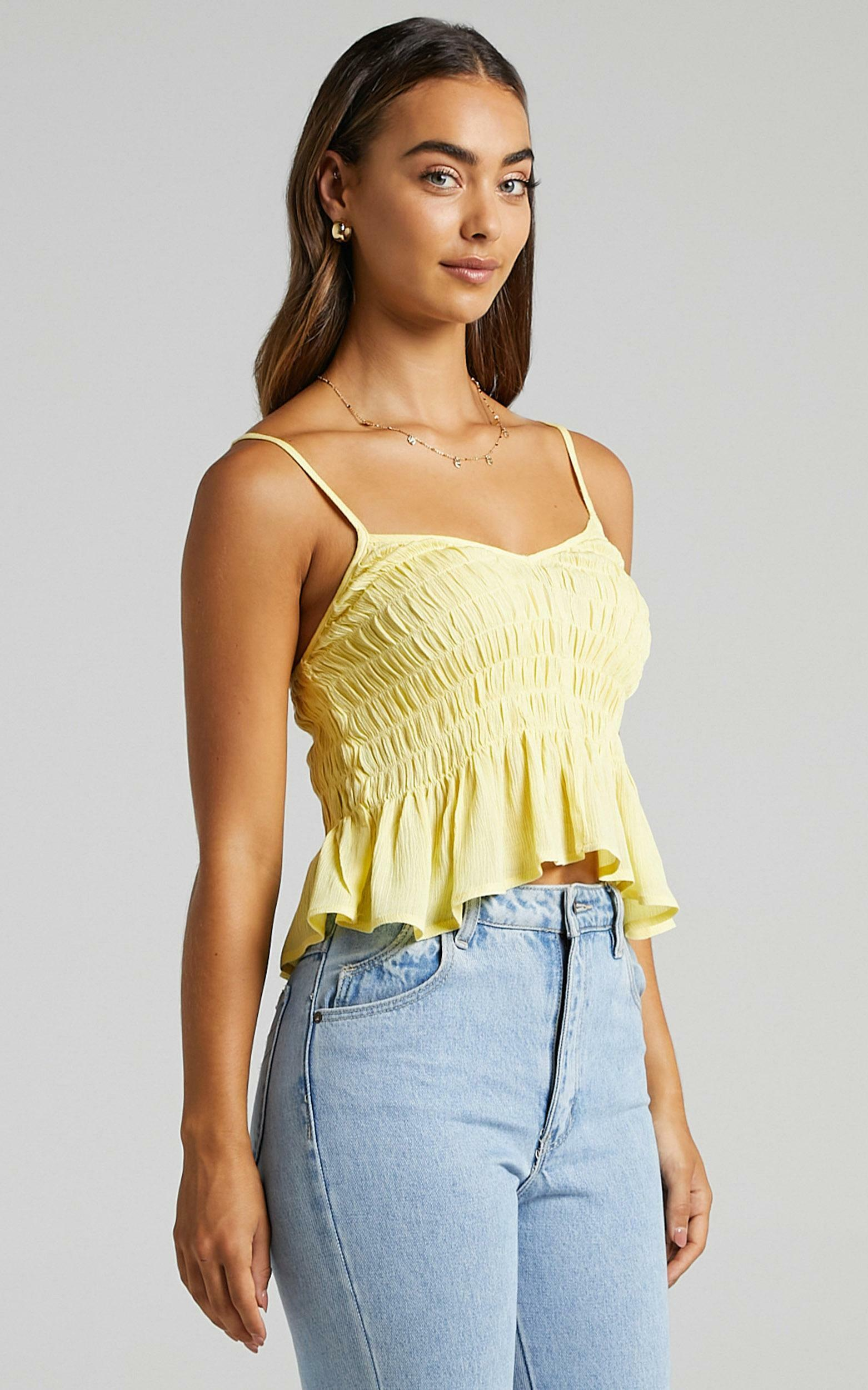 Bellona Top in Lemon - 6 (XS), Yellow, hi-res image number null