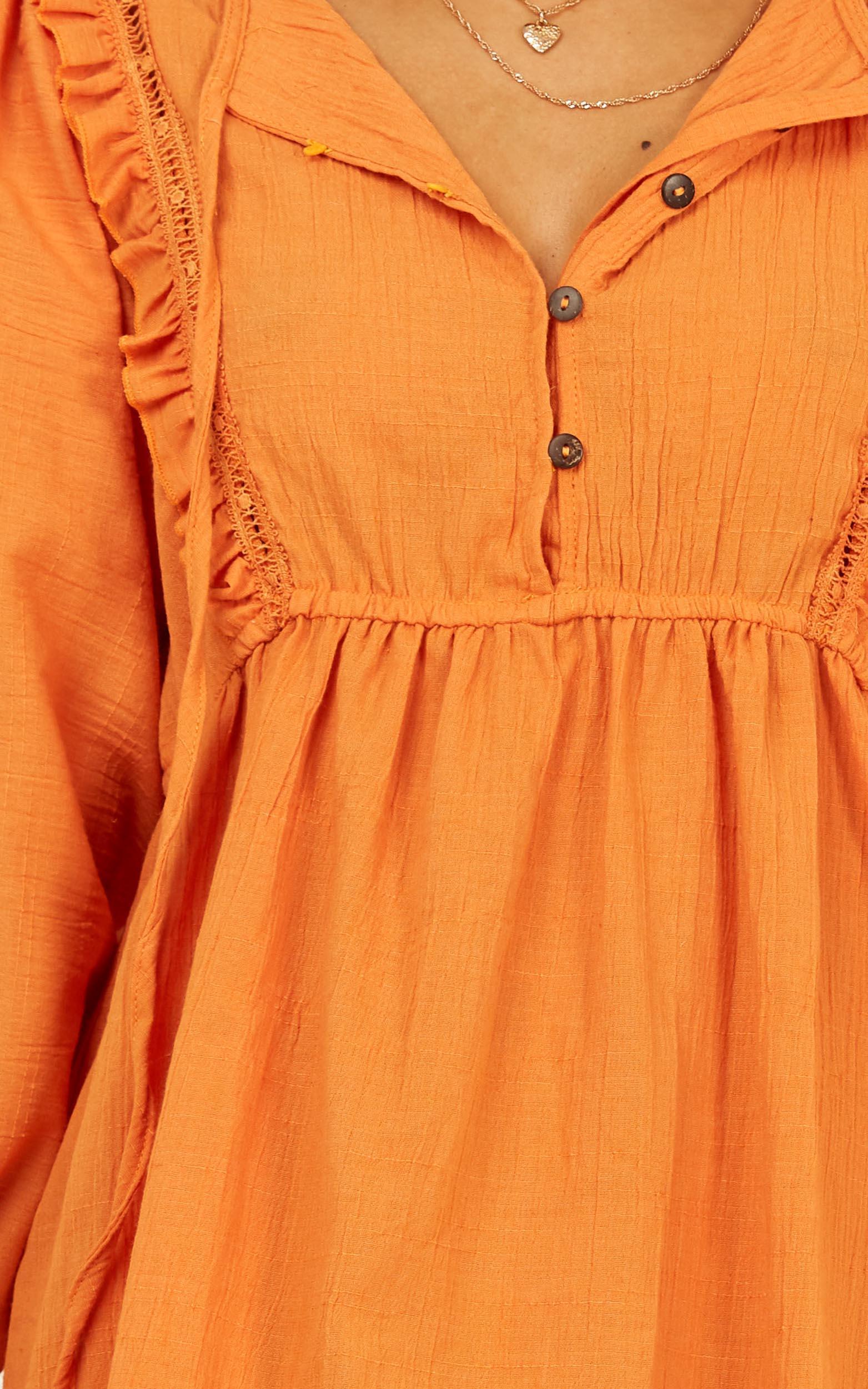 Make A Choice dress in tangerine - 14 (XL), Orange, hi-res image number null