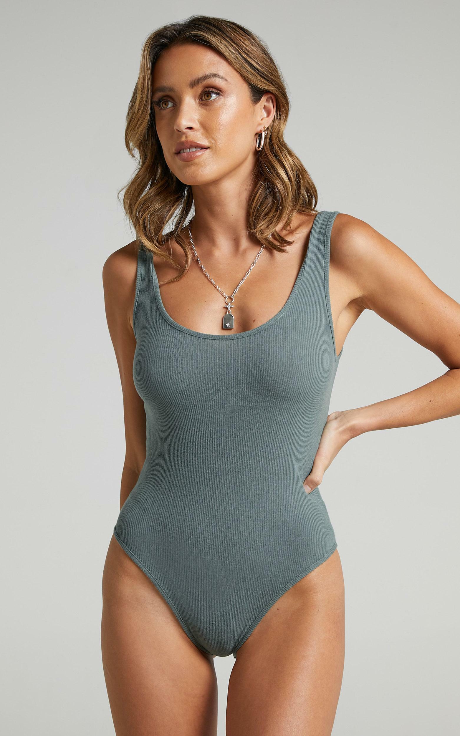 Pearce Bodysuit in Khaki - 12, GRN1, hi-res image number null