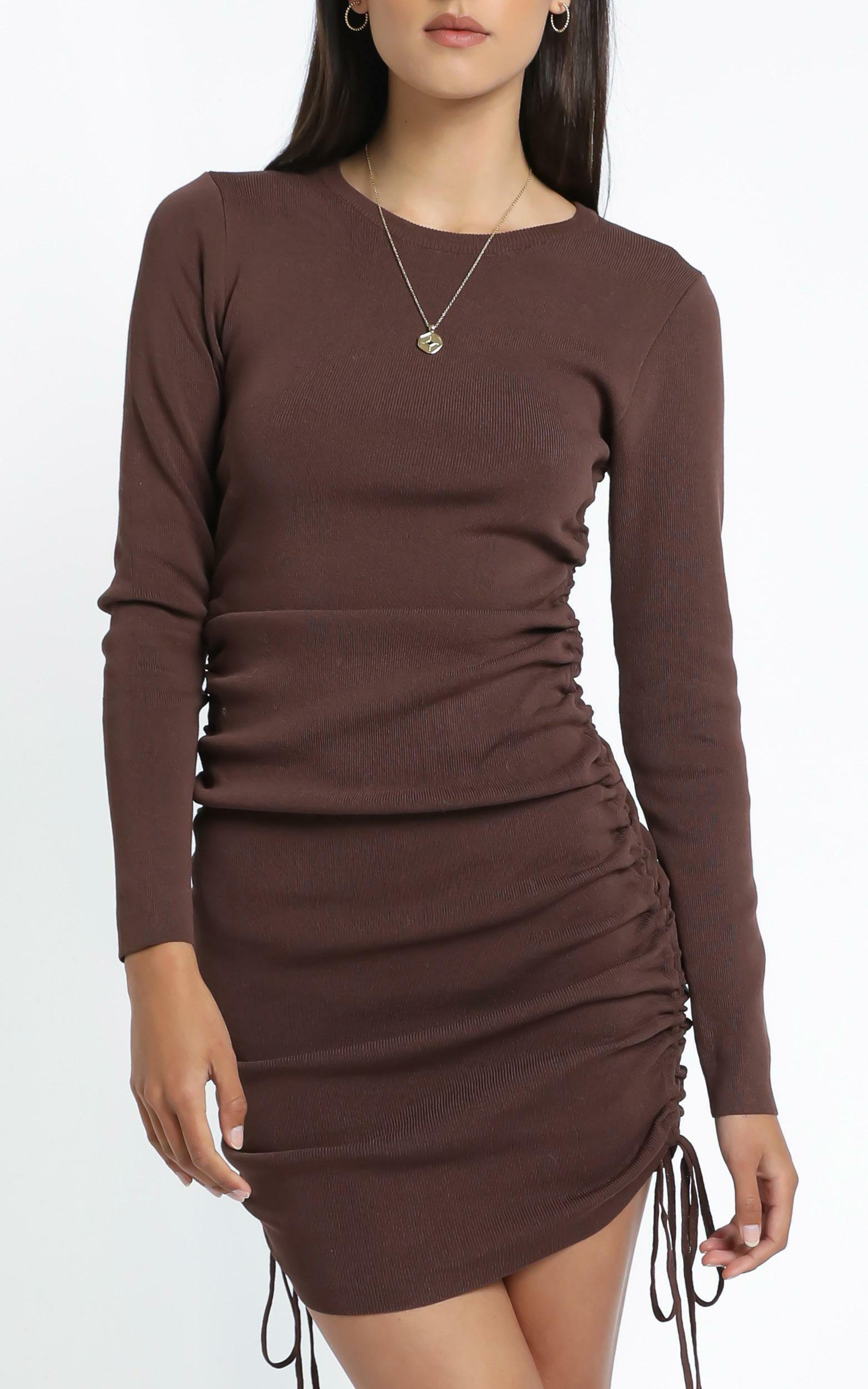 Lioness - Military Minds Long Sleeve Dress in Cocoa - 12, BRN2, hi-res image number null