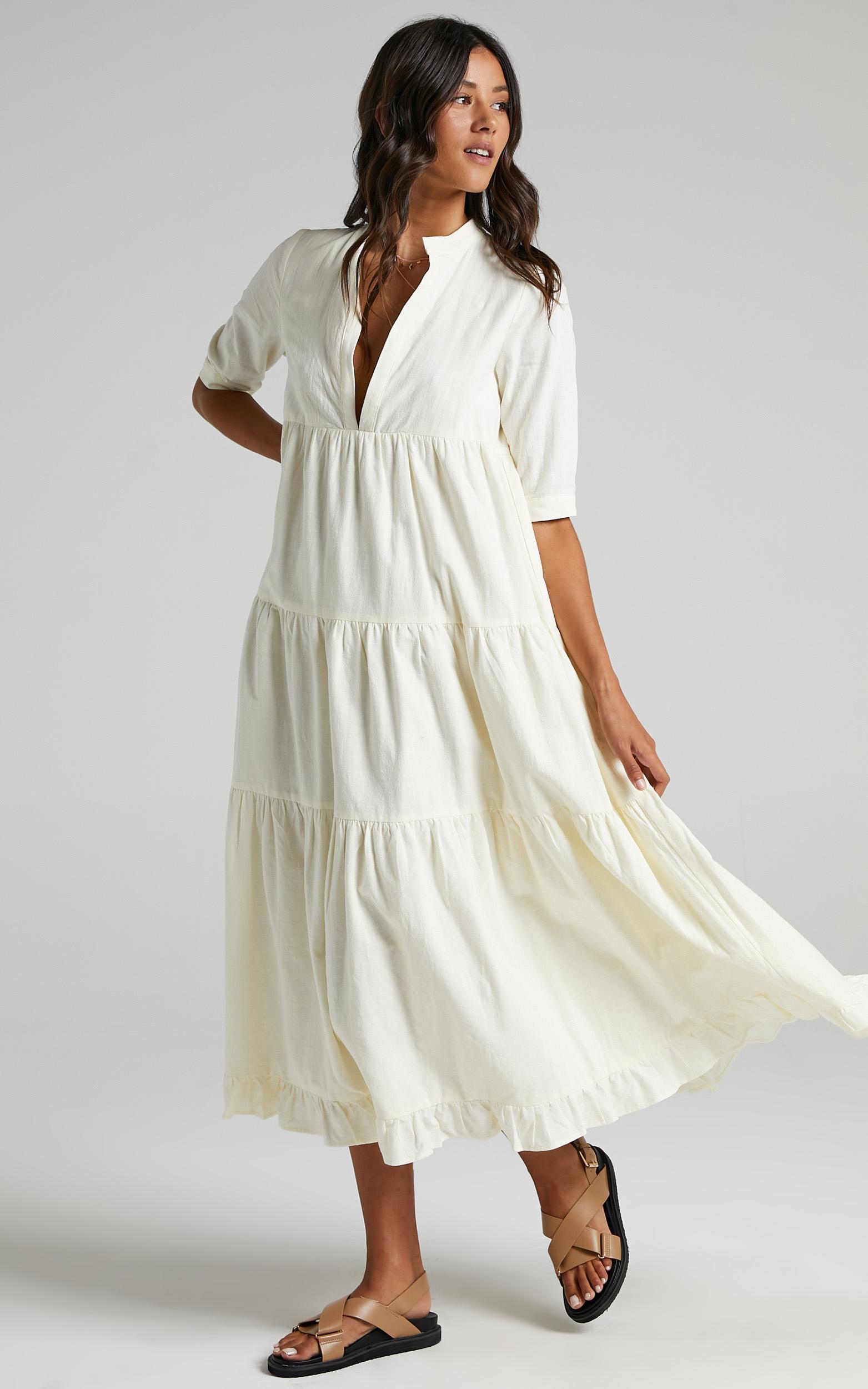 Serilda Dress in Cream - 08, CRE1, hi-res image number null