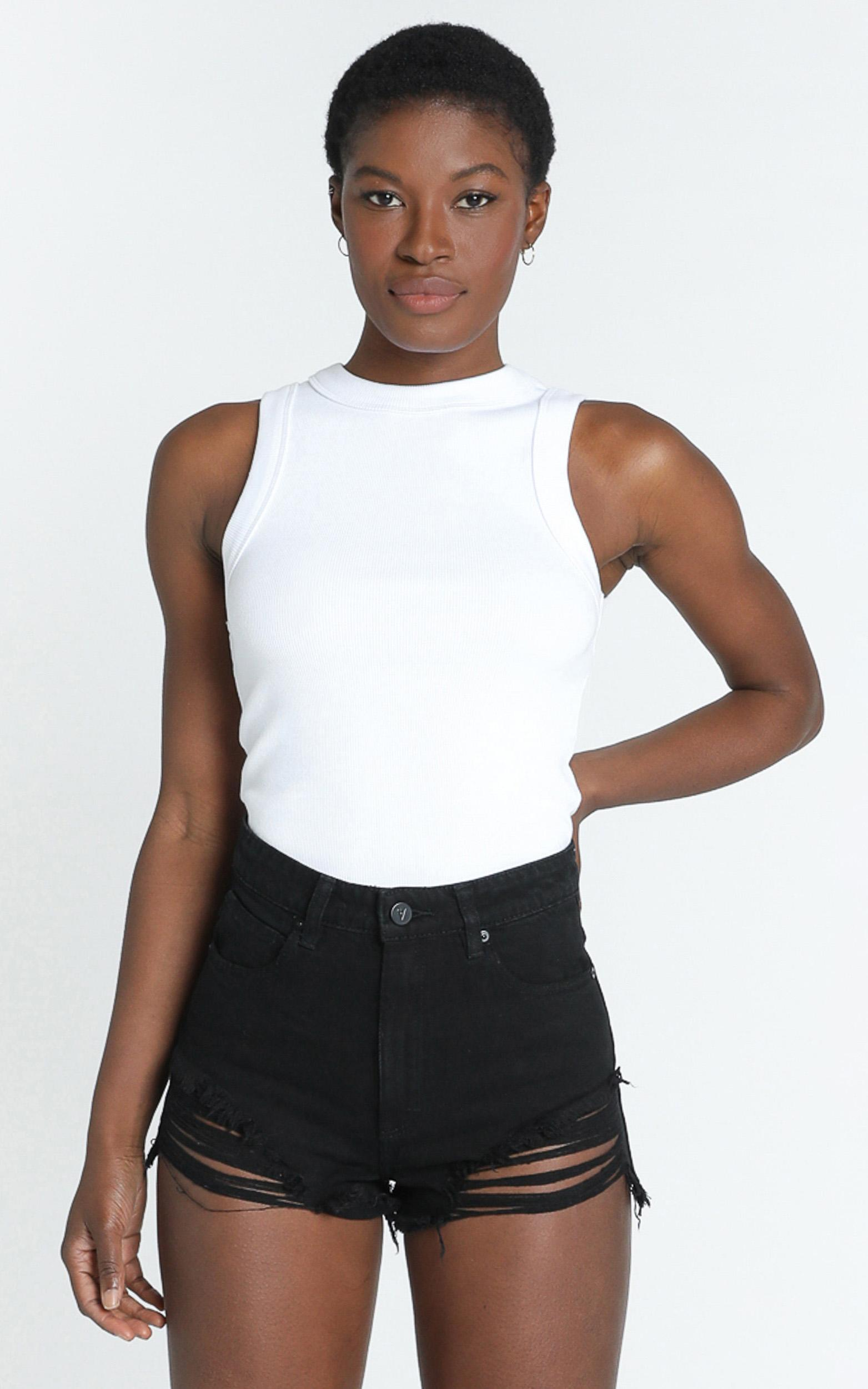 Abrand - A High Relaxed Denim Shorts in salty black - 6 (XS), BLK1, hi-res image number null