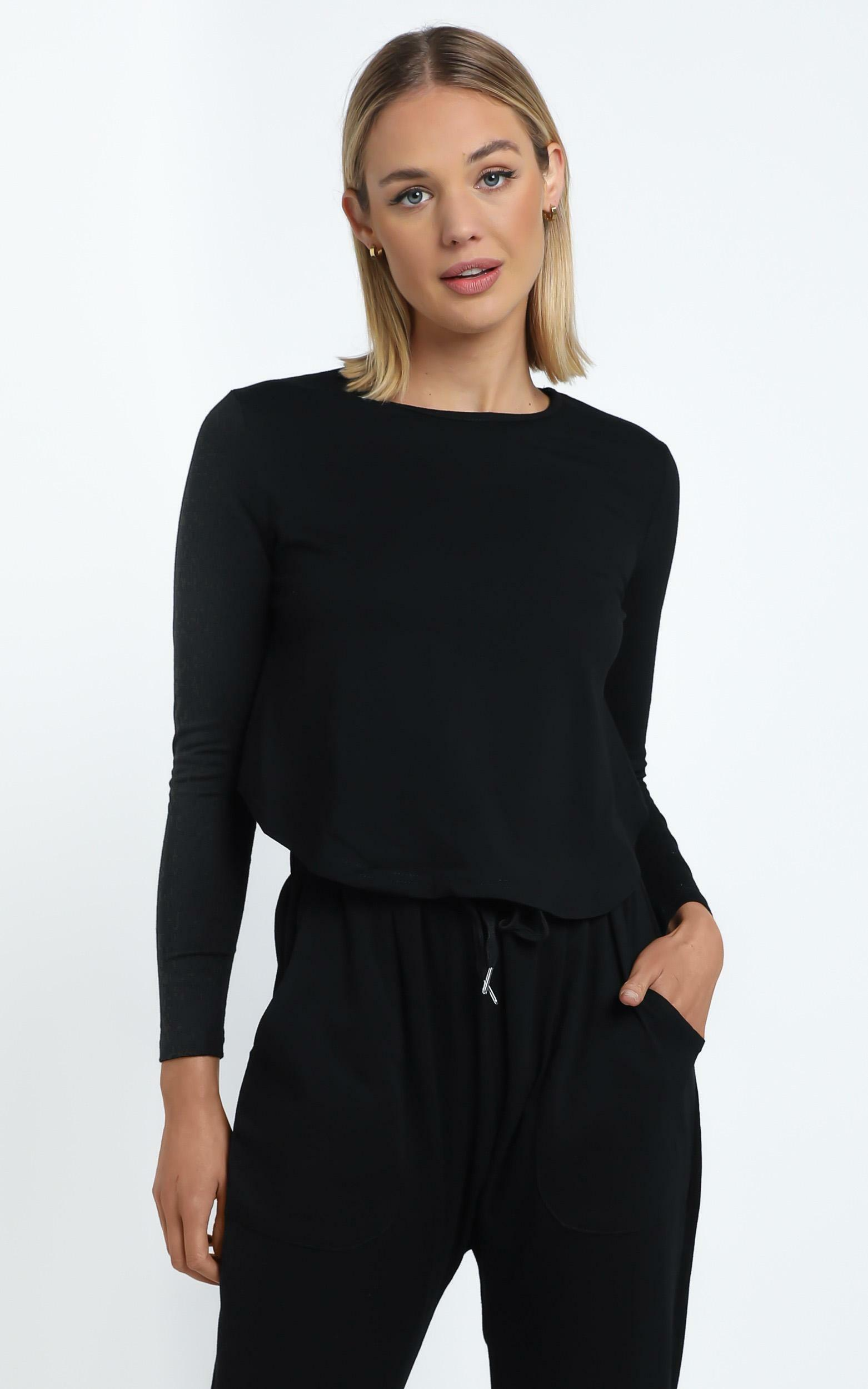 Zanna Top in Black - 14 (XL), Black, hi-res image number null