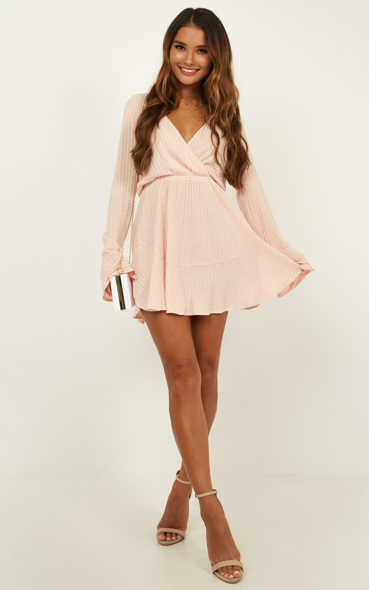 The Next Step Dress In blush marle - 20 (XXXXL), Blush, hi-res image number null
