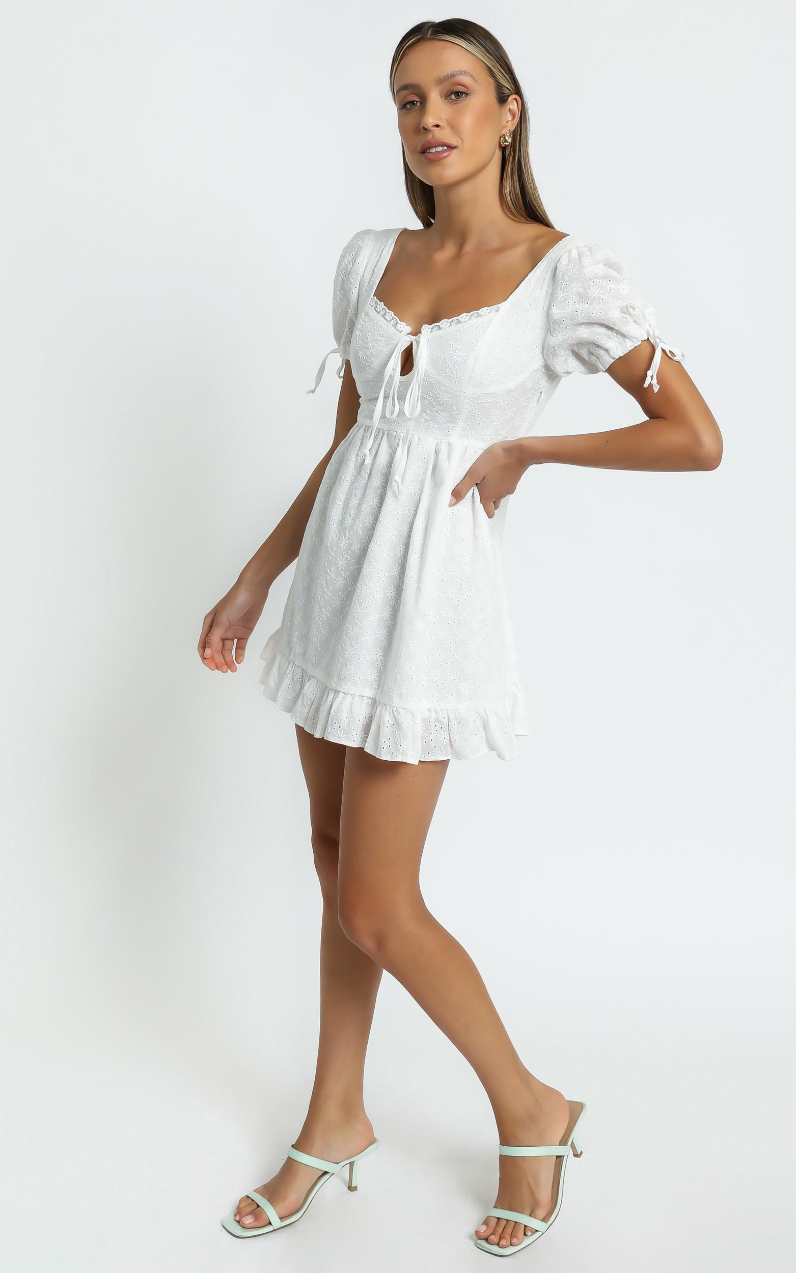 Perla Dress in White - 8 (S), White, hi-res image number null