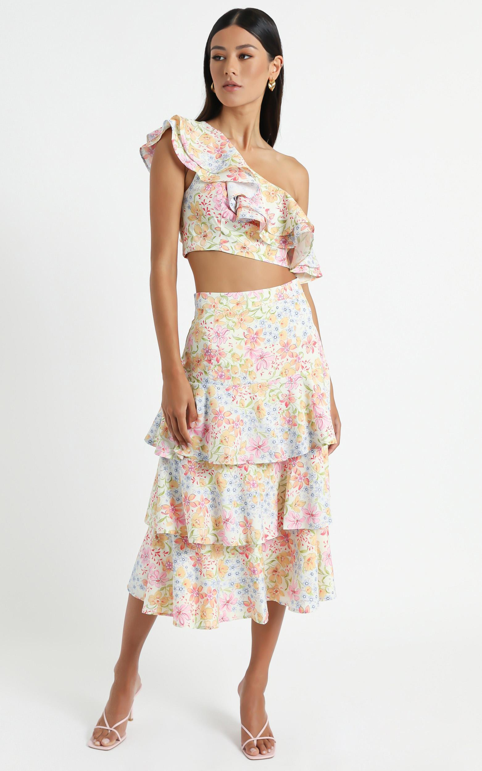 Provence Skirt in Multi Floral - 6 (XS), Multi, hi-res image number null