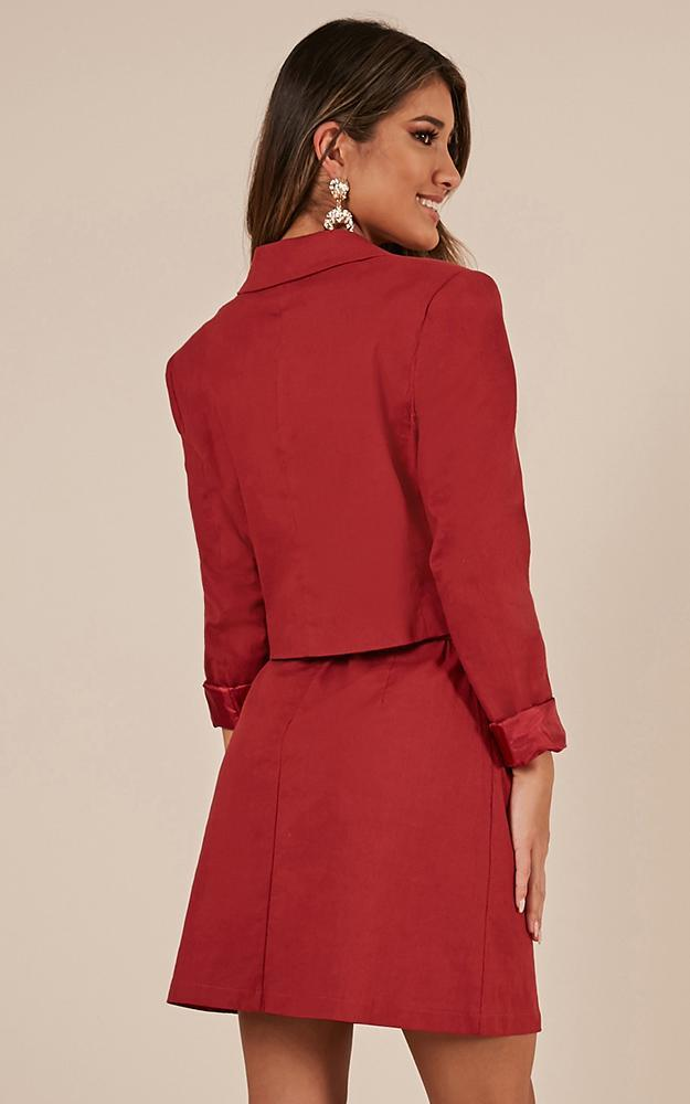 Code Of Silence Jacket in chilli linen look - 14 (XL), Red, hi-res image number null