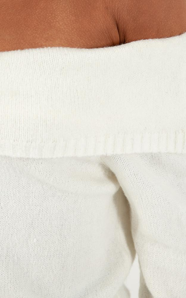 Absolutely Everybody Knit Jumper in white - 14 (XL), White, hi-res image number null