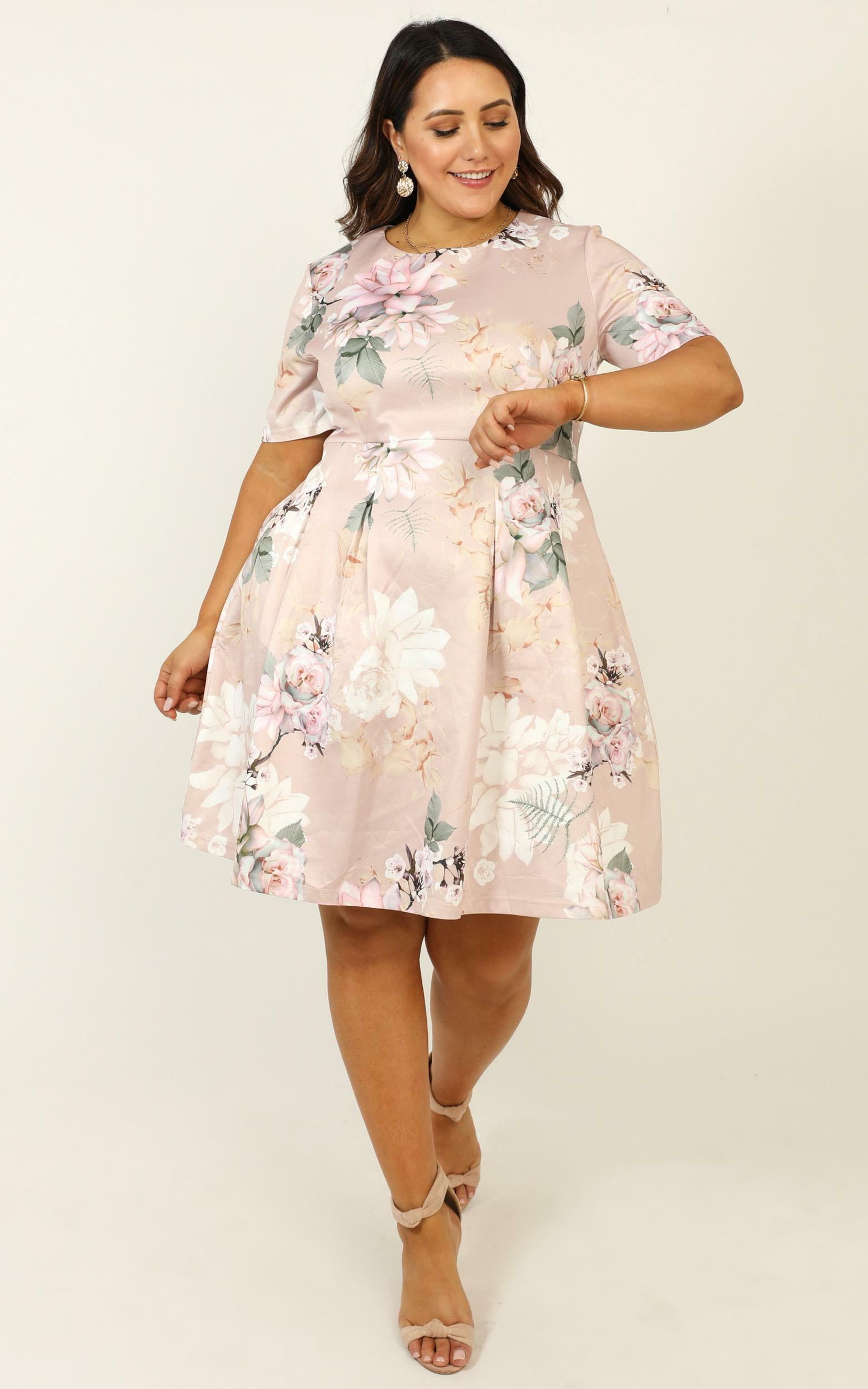 Meet the Parents dress in blush floral - 20 (XXXXL), Pink, hi-res image number null