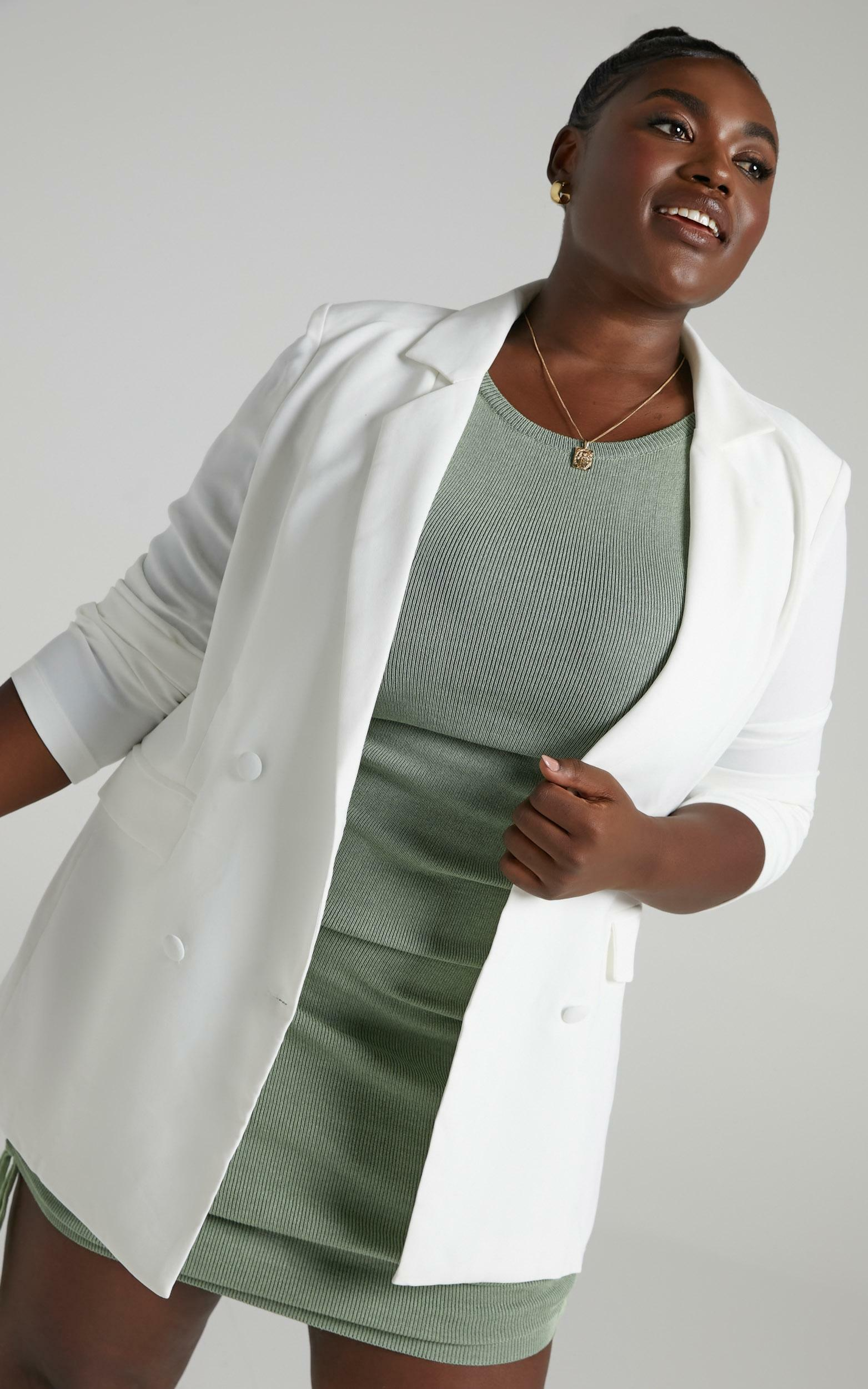 Quick To Win Blazer in White - 4 (XXS), White, hi-res image number null