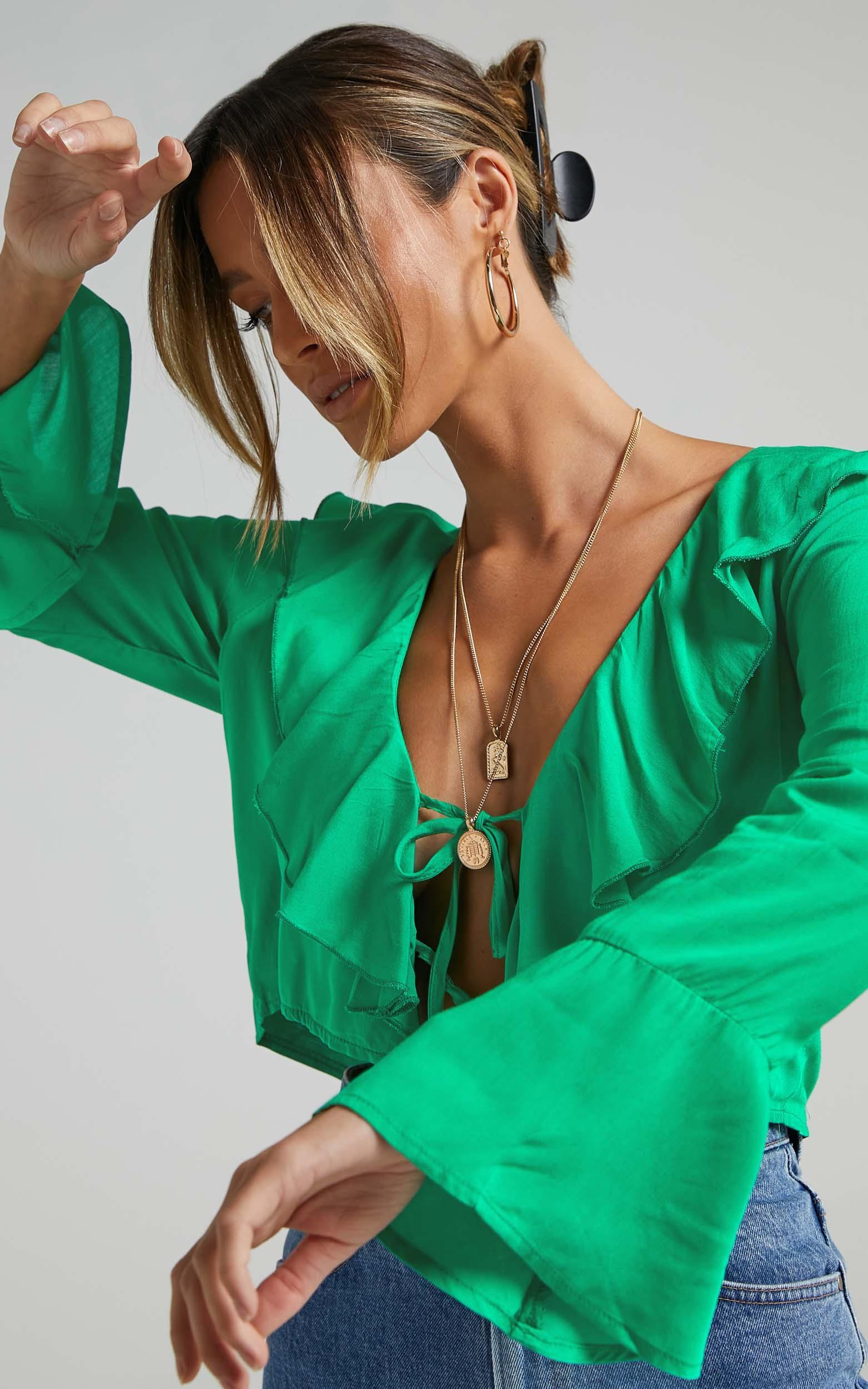 Rumina Top in Green - 06, GRN2, hi-res image number null