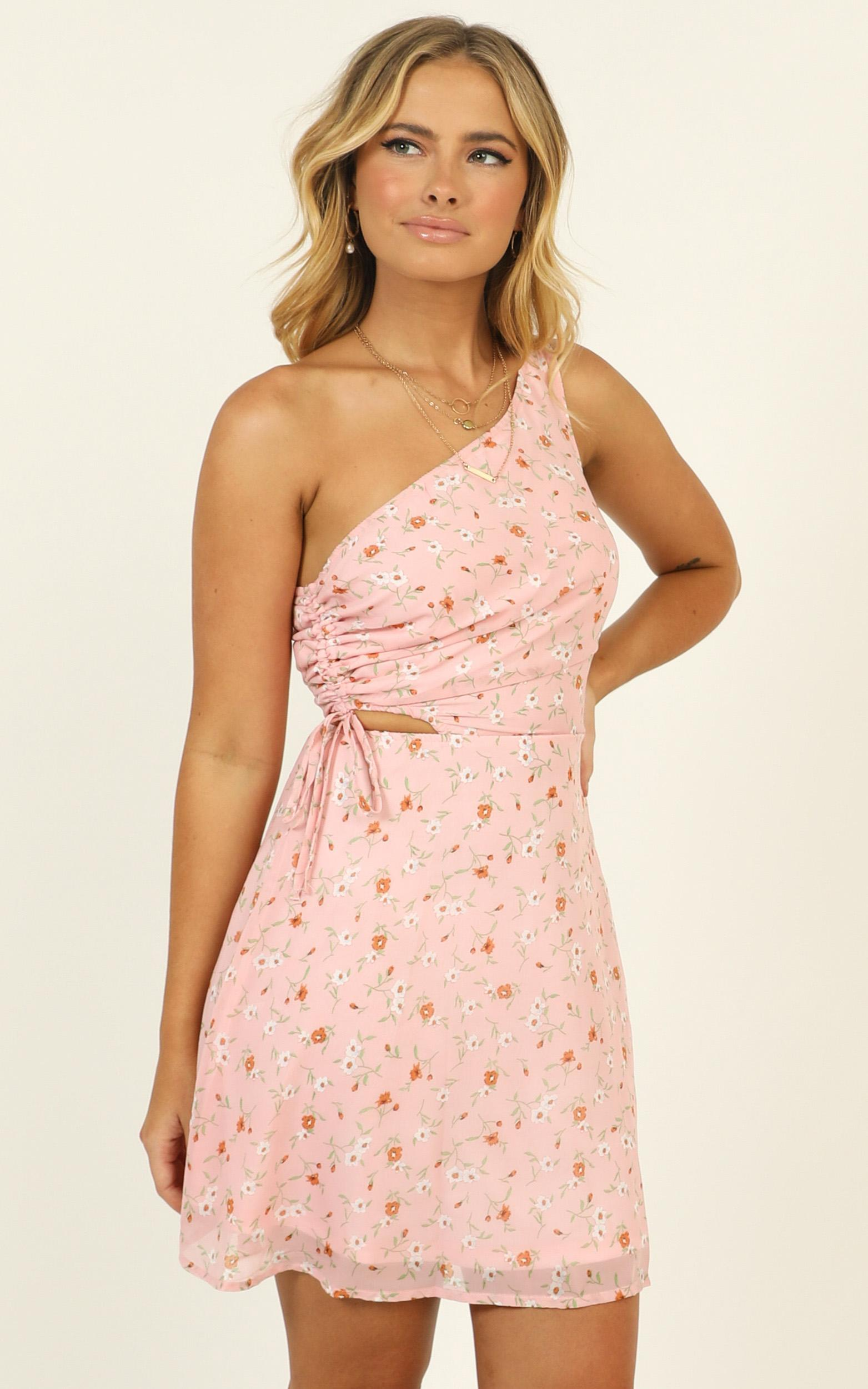 To Be Mine dress in pink floral - 16 (XXL), Pink, hi-res image number null