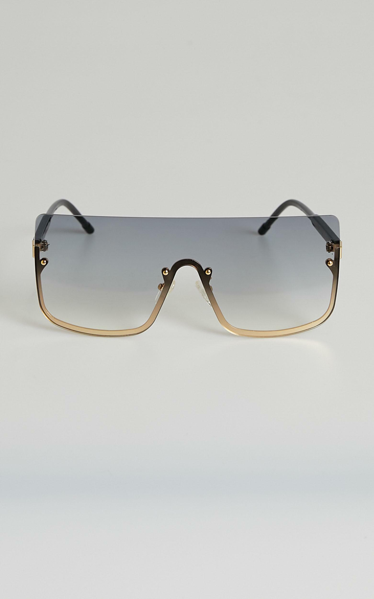 North Side sunglasses in black and gold, BLK1, hi-res image number null