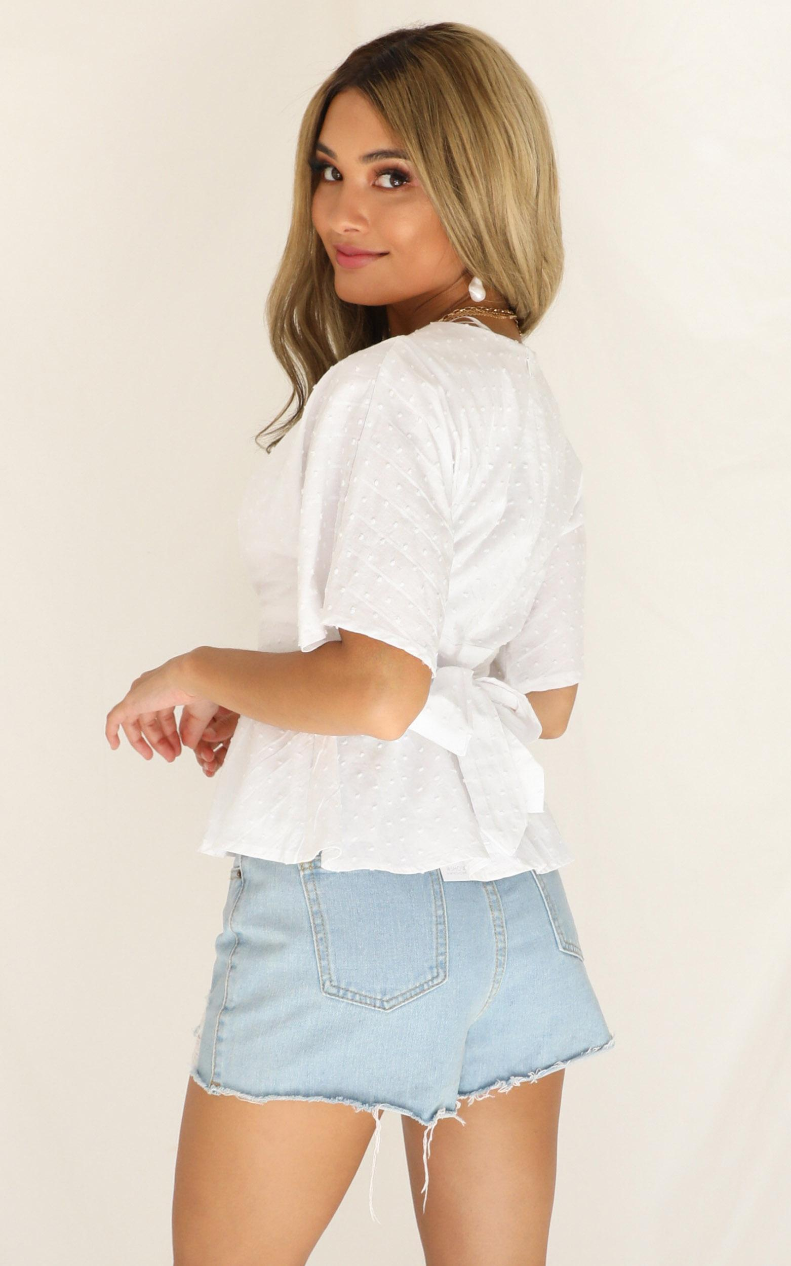 New Possibilities top in white linen look - 12 (L), White, hi-res image number null
