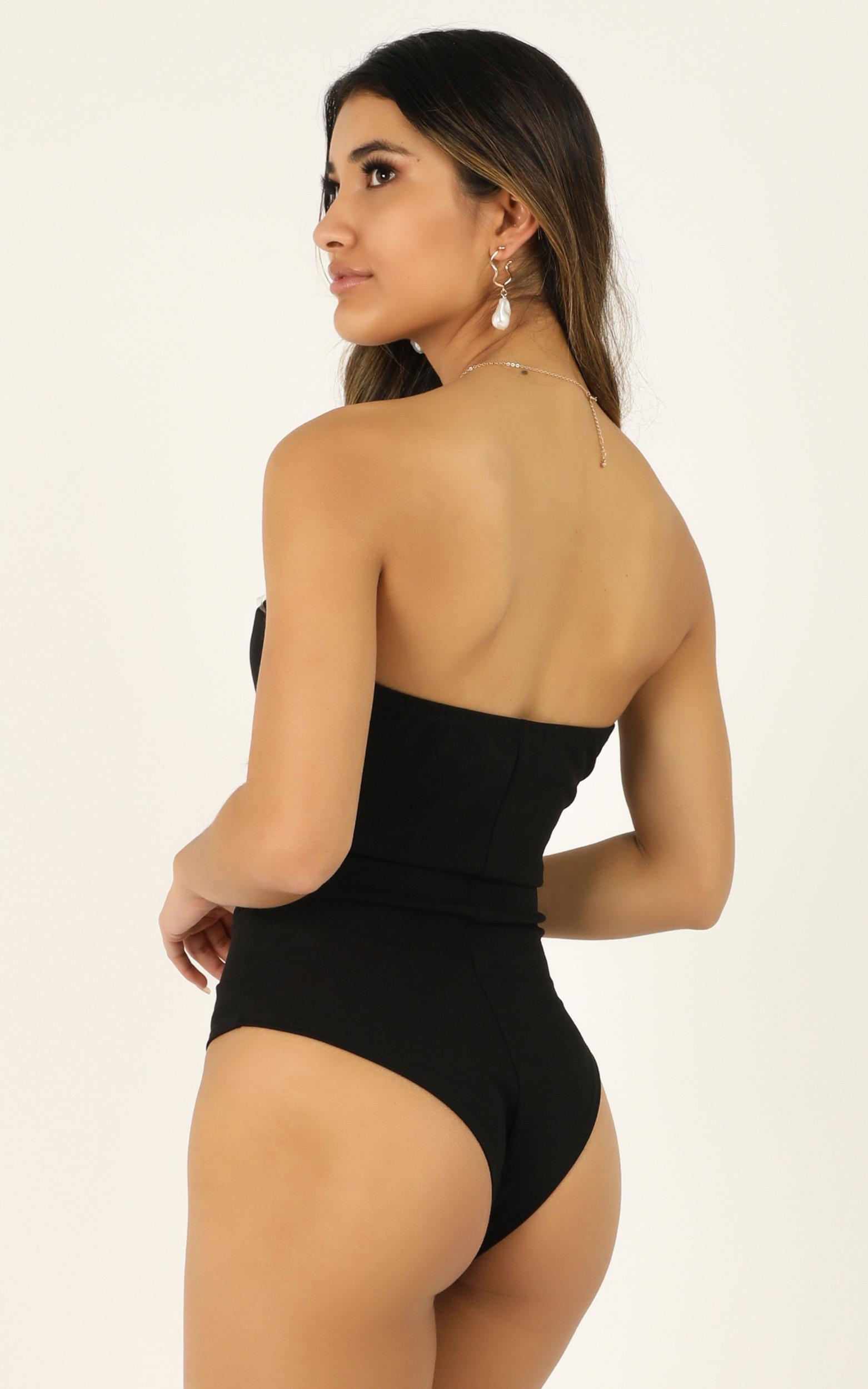 Nothing left bodysuit in black - 12 (L), Black, hi-res image number null