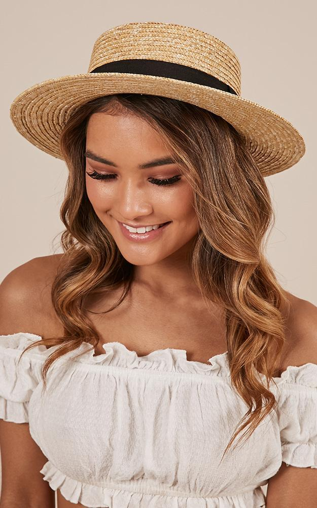 By The Harbour Hat in Natural and Black, , hi-res image number null