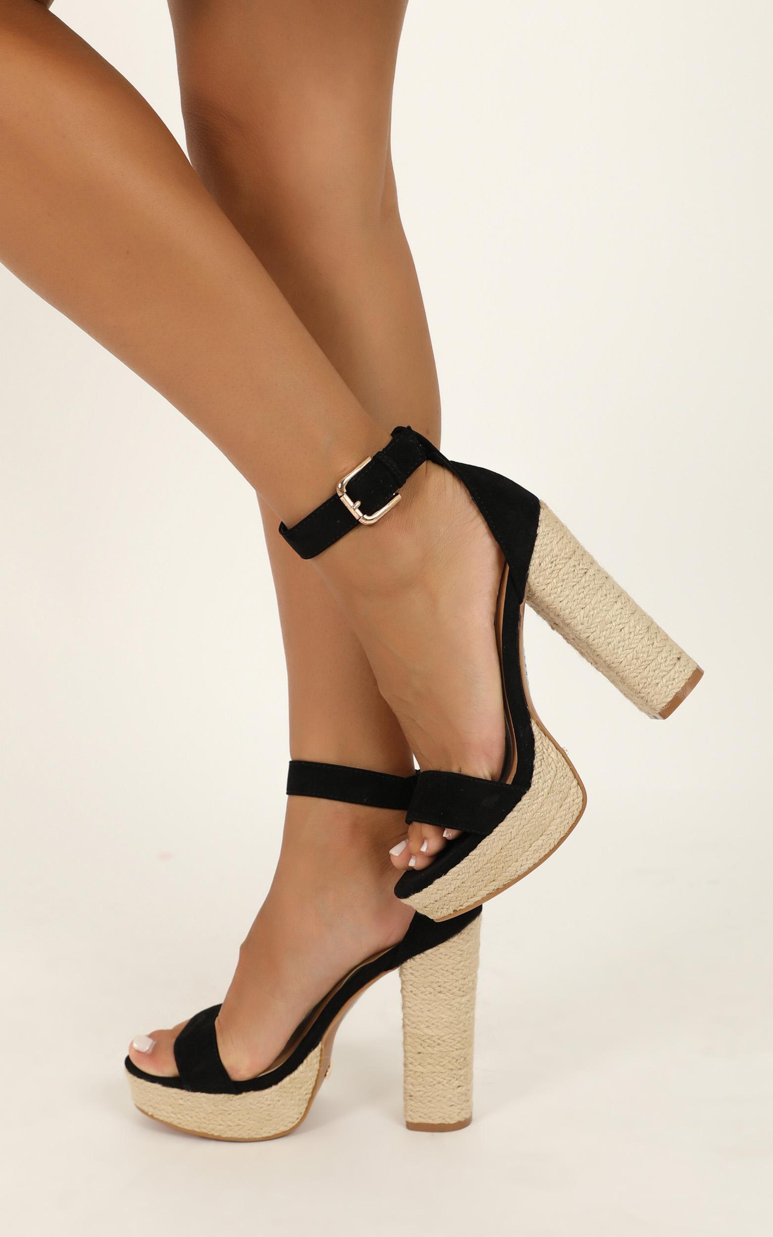 Billini - Evanna heels in black micro - 10, Black, hi-res image number null