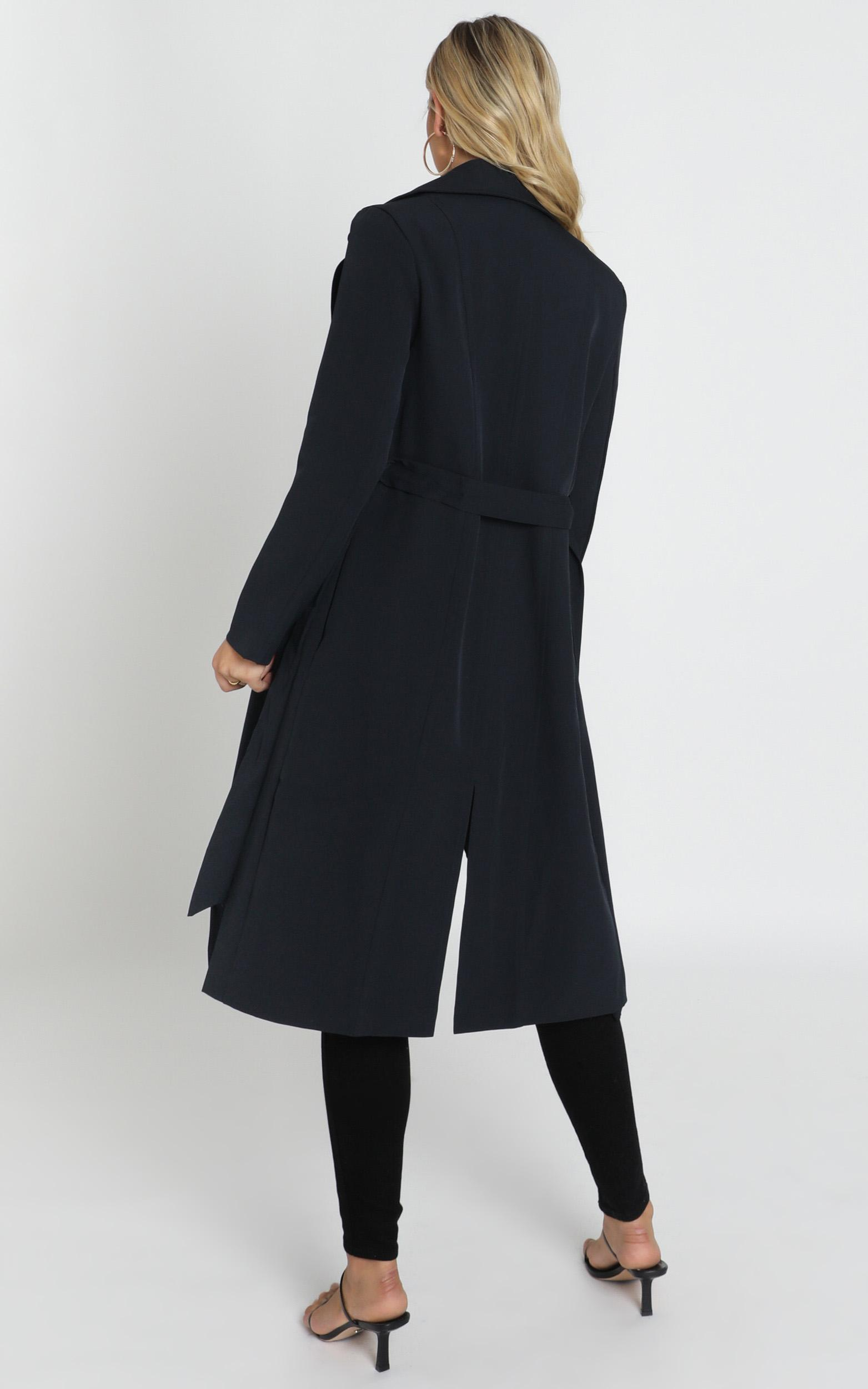 Back To the Start Coat in navy - 14 (XL), Navy, hi-res image number null