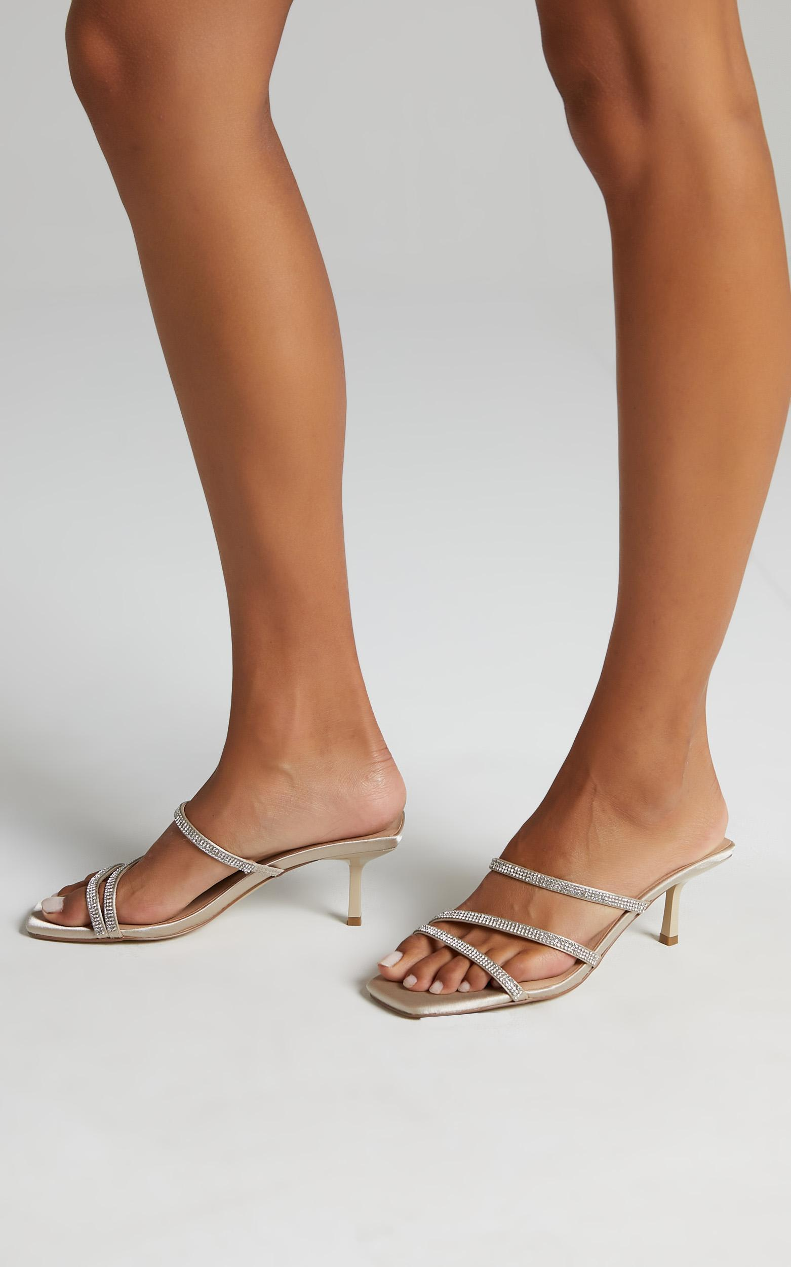 Therapy - Dazzle Heels in Champagne Satin - 05, WHT2, hi-res image number null