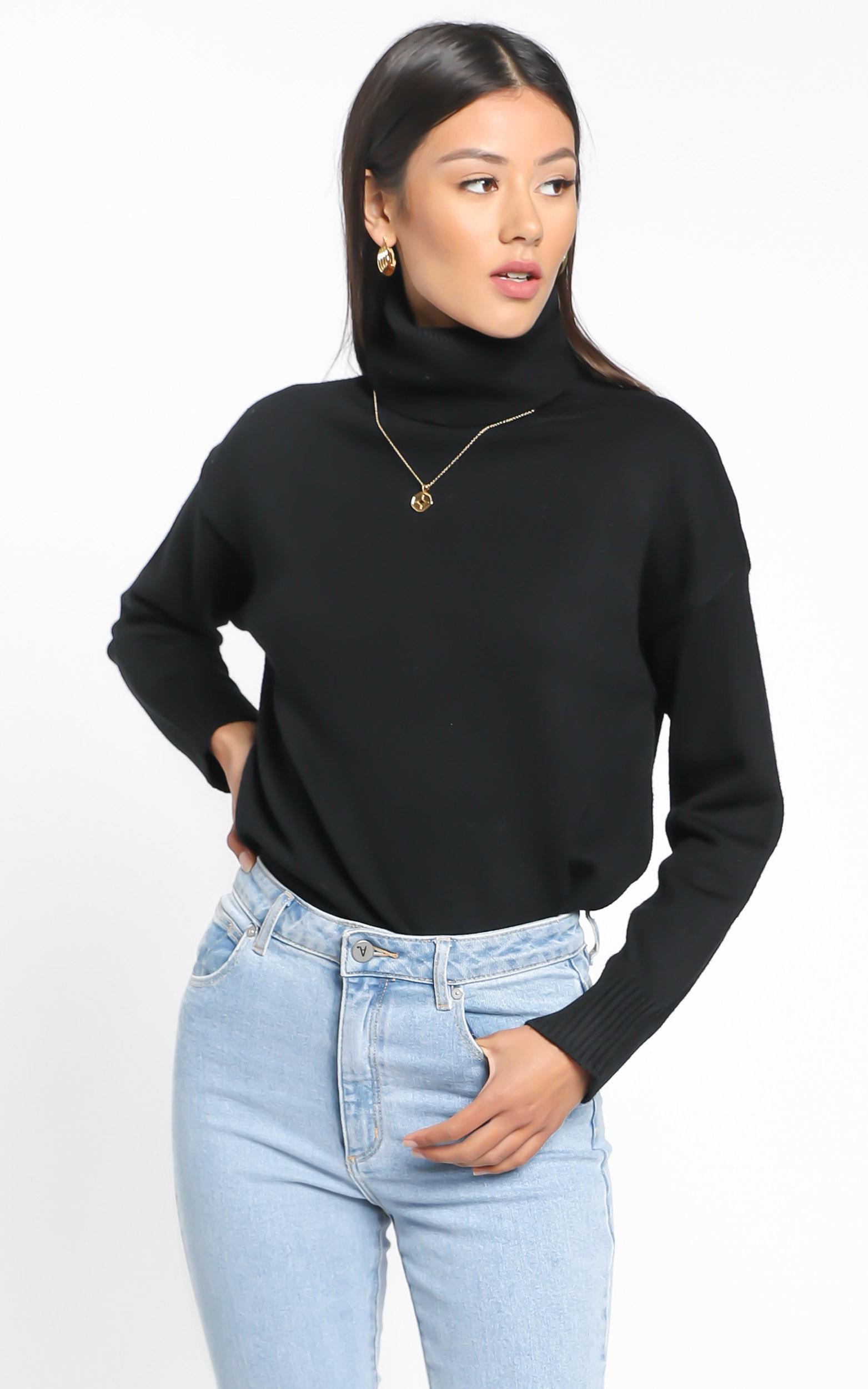 Irvette Knit Jumper in Black - M/L, Black, hi-res image number null