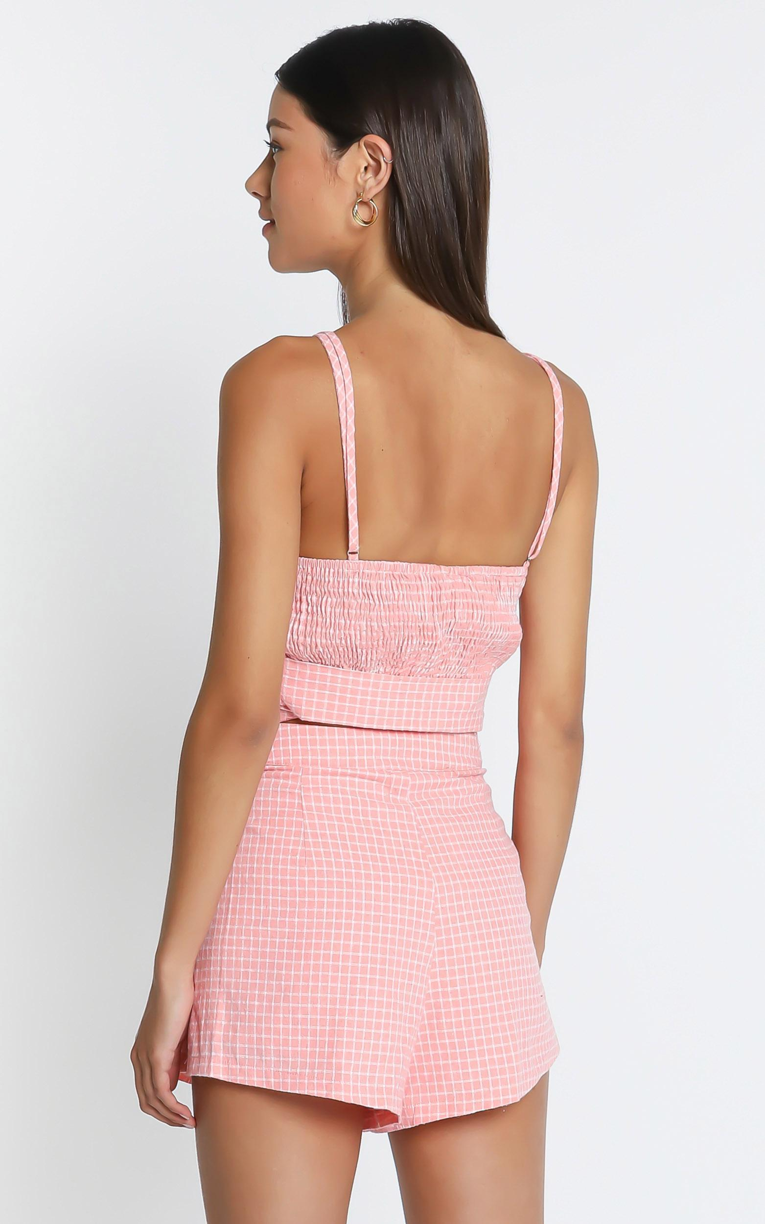 Abelia Shorts In Pink Check, PNK1, hi-res image number null