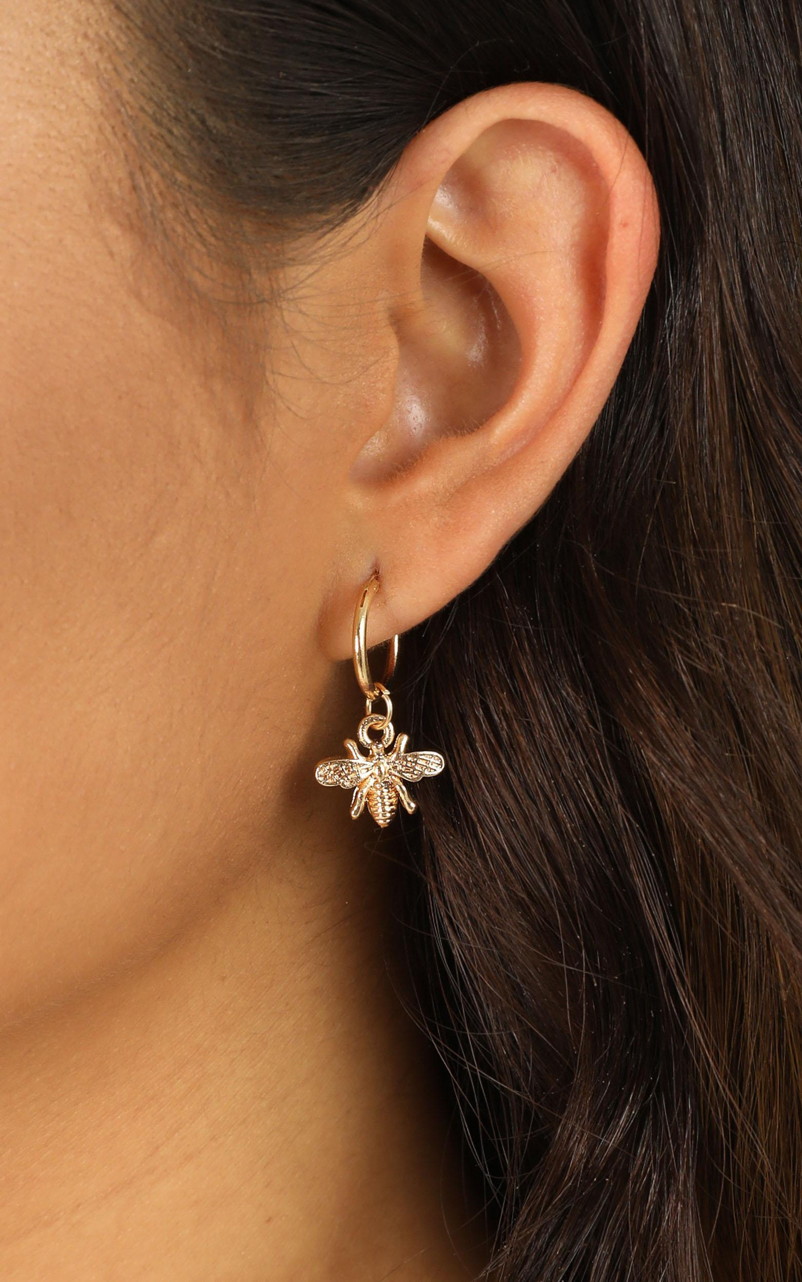 Can I Love You Earrings In Gold, , hi-res image number null