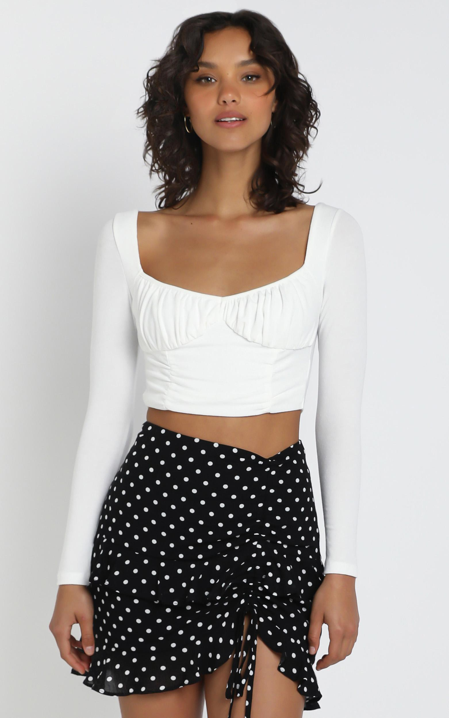 Luyu Top in White - 12 (L), WHT1, hi-res image number null