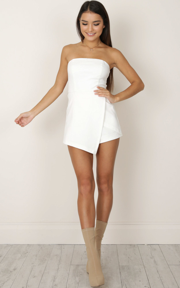 Caught My Eyes Playsuit in white - 6 (XS), White, hi-res image number null