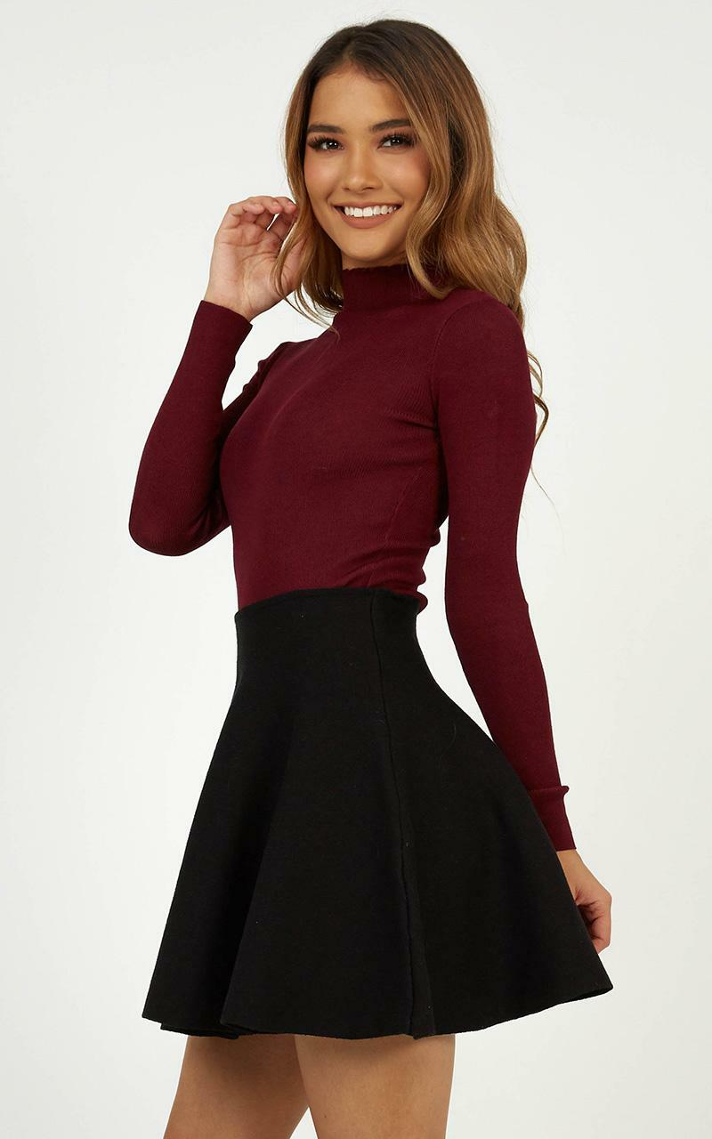 Lust For Life Knit Top in Wine - 20 (XXXXL), Wine, hi-res image number null