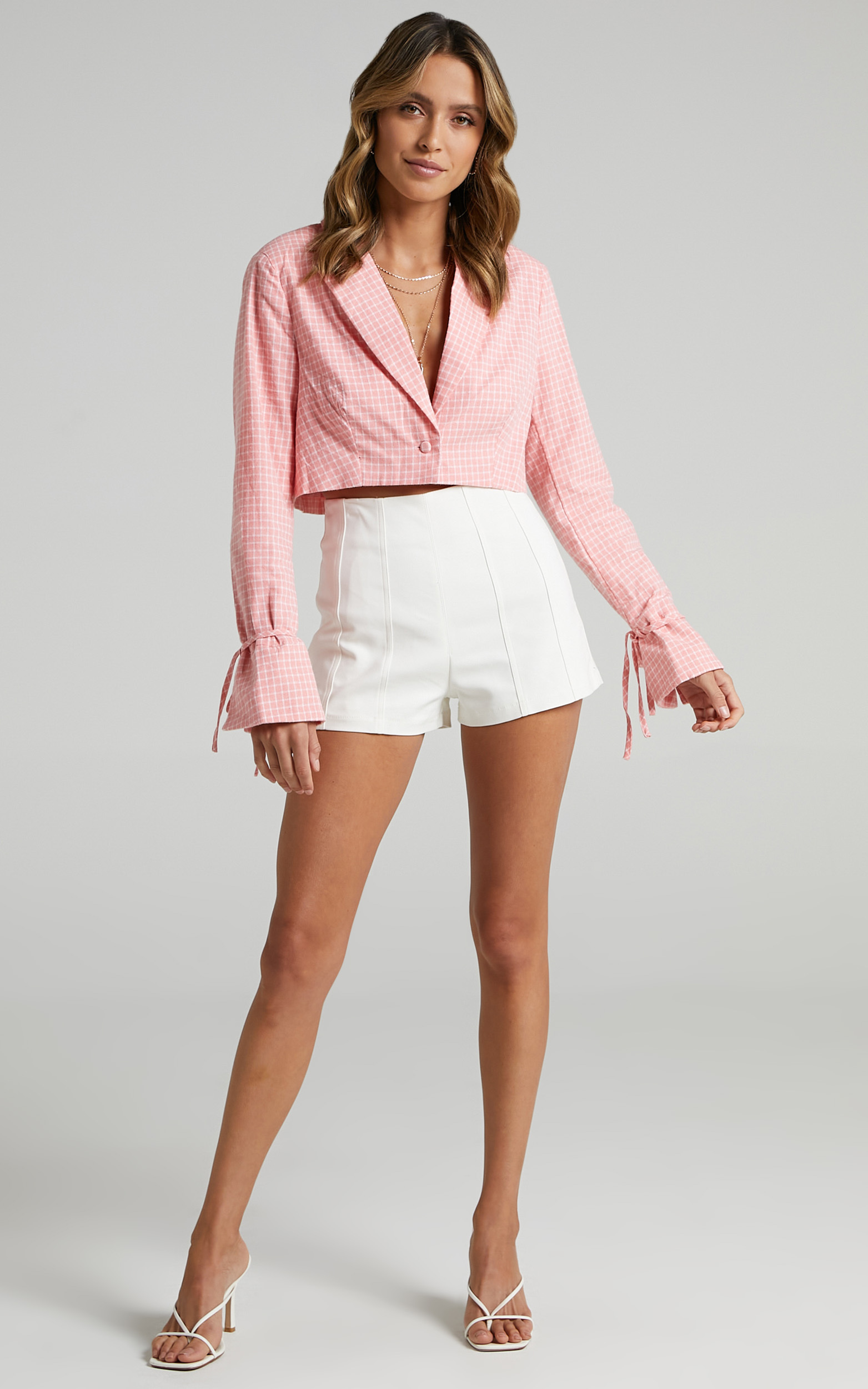 Maude Blazer in Pink Check - 06, PNK2, hi-res image number null