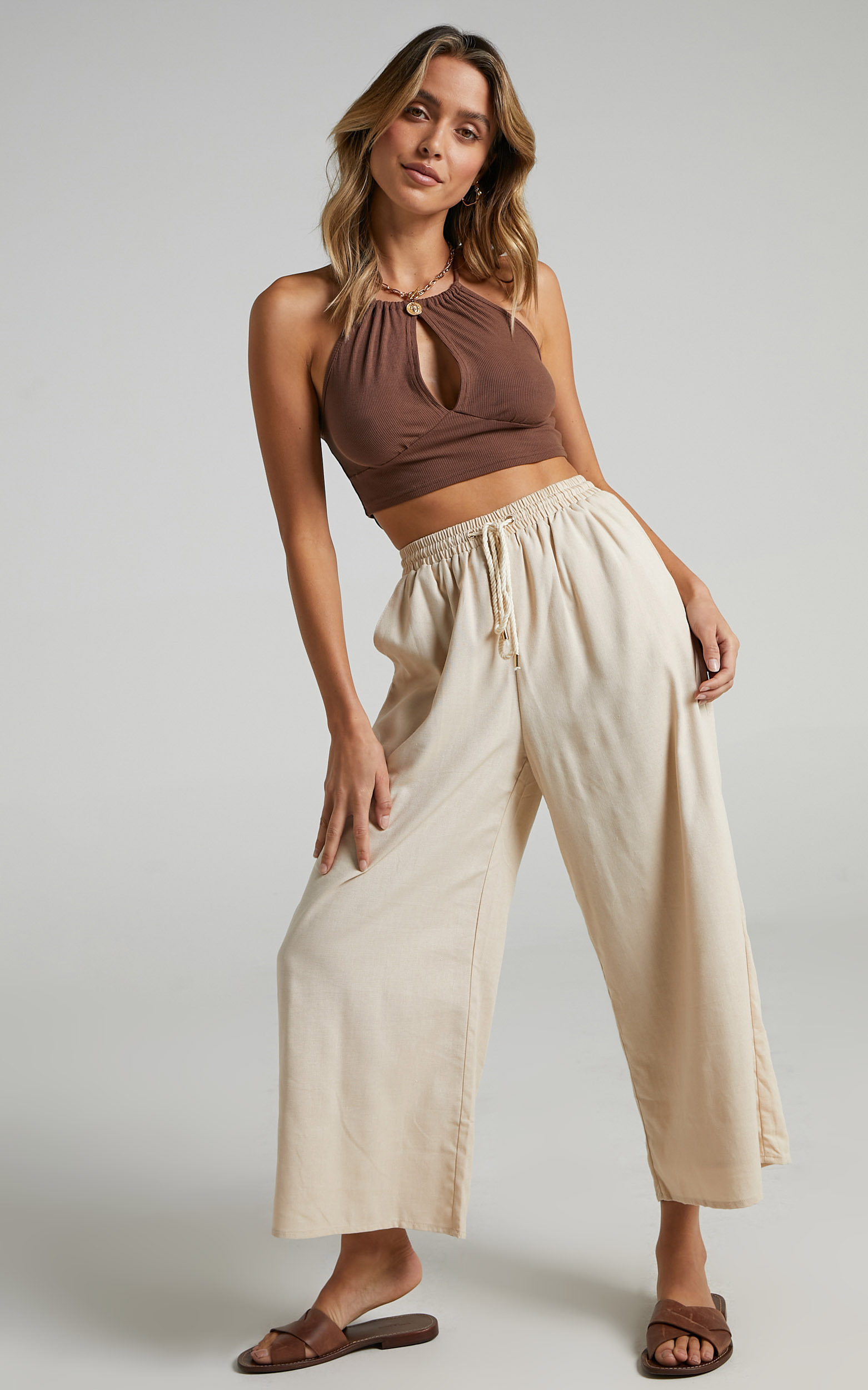 Chenoa Pants in Beige - 14 (XL), Beige, hi-res image number null