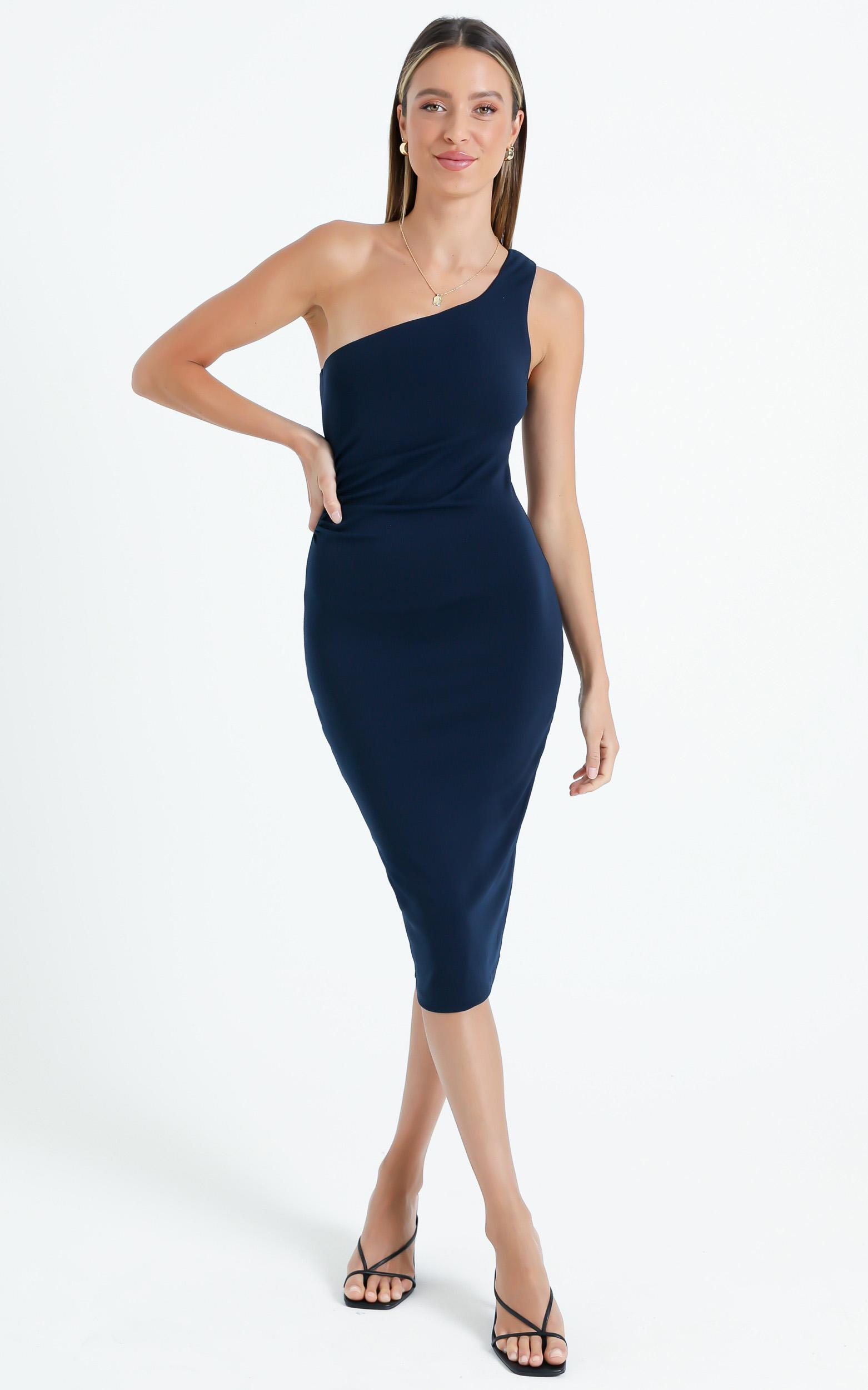 Got Me Looking Dress In Navy - 4 (XXS), Navy, hi-res image number null