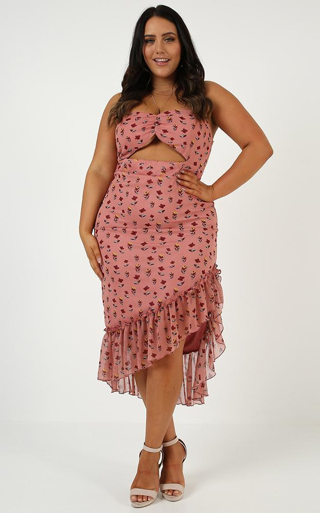 If I Knew Dress in Rose Floral - 20 (XXXXL), Pink, hi-res image number null