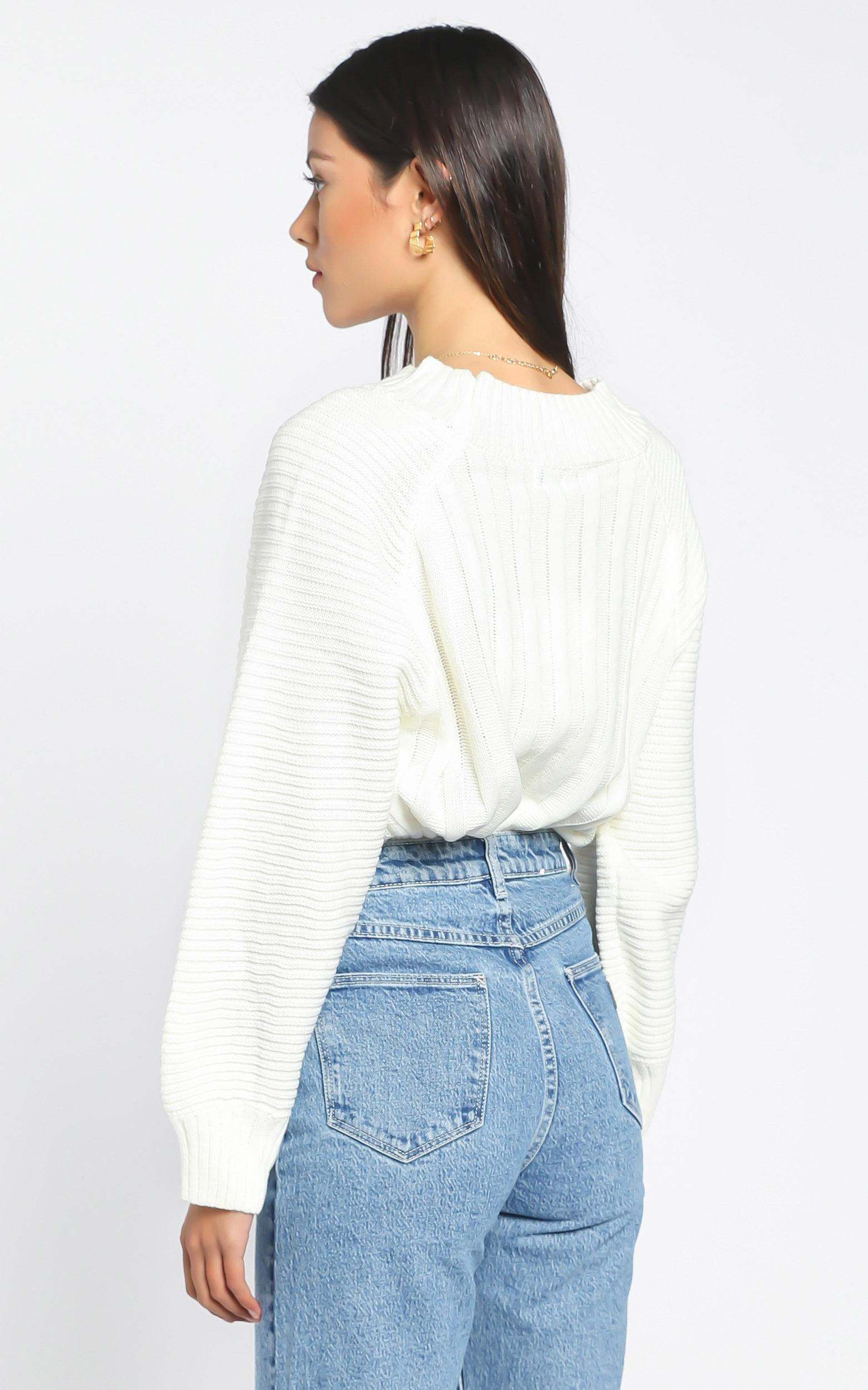 Keris Jumper in White - S/M, White, hi-res image number null