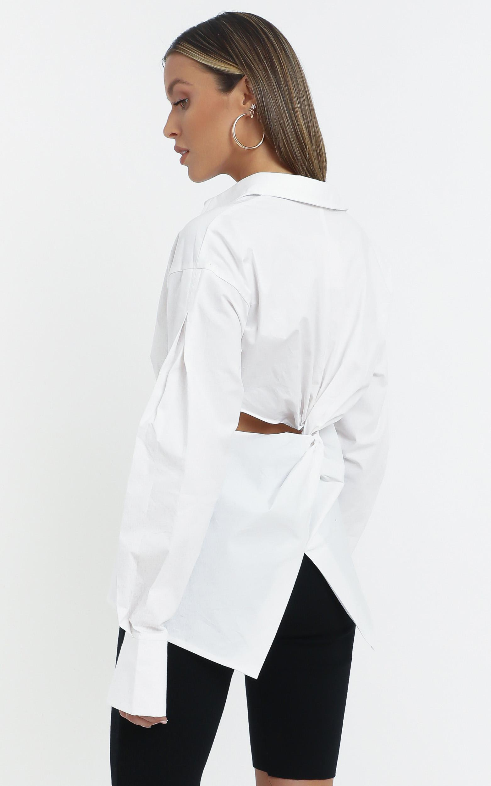 Amity Shirt in White - 14 (XL), White, hi-res image number null