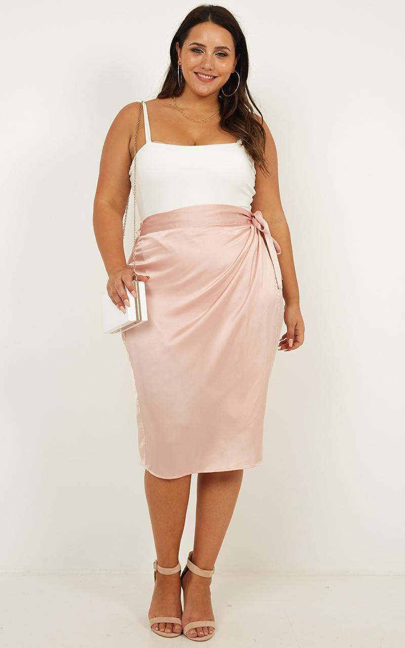Oh Darling Skirt in blush satin - 16 (XXL), Blush, hi-res image number null