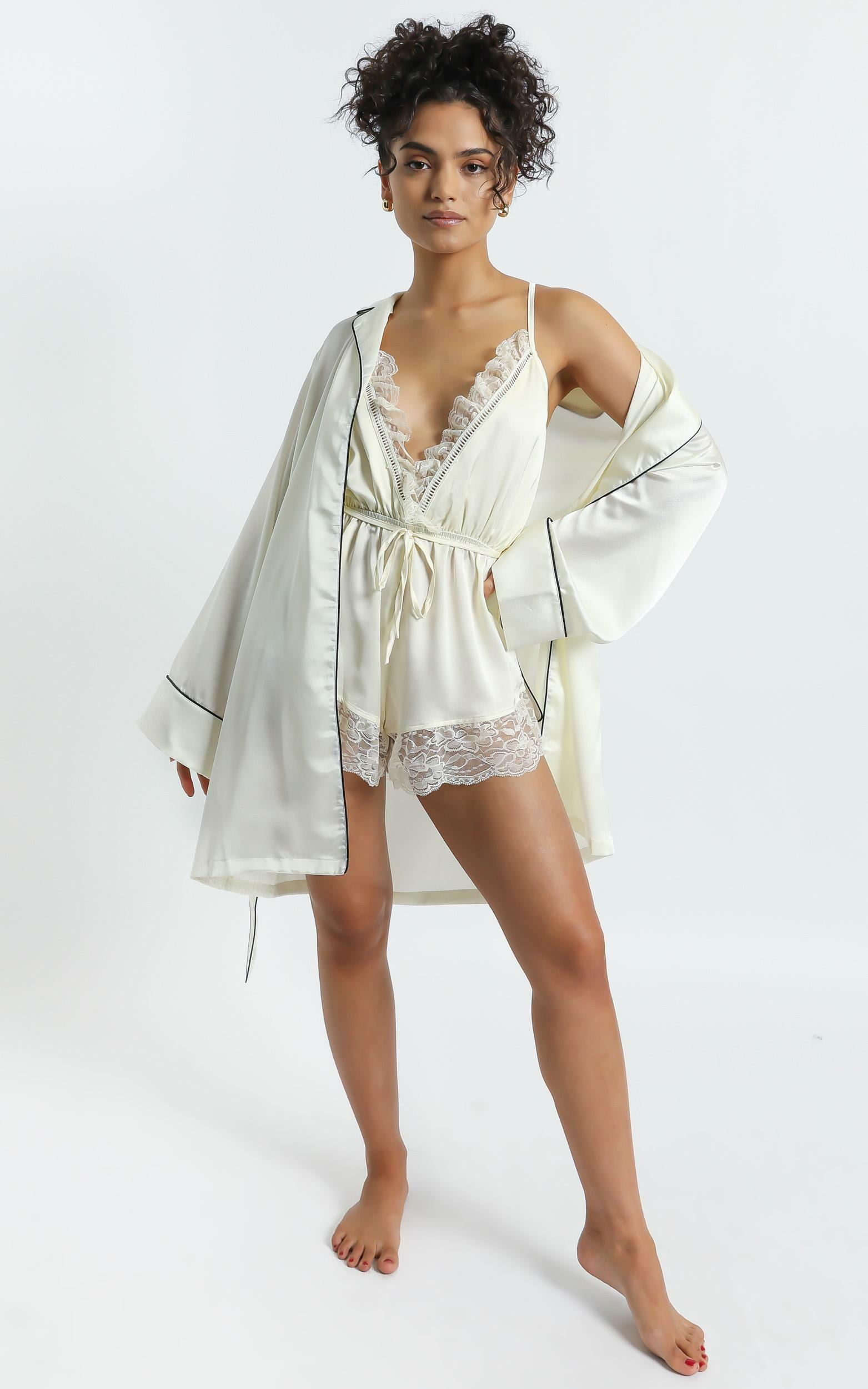 Nap Time Robe in Ivory Satin - 4 (XXS), WHT1, hi-res image number null