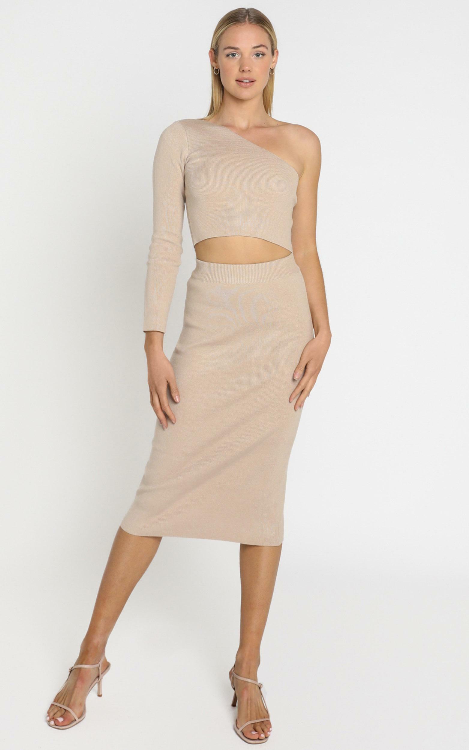 Walker Skirt in Beige - 8 (S), Beige, hi-res image number null